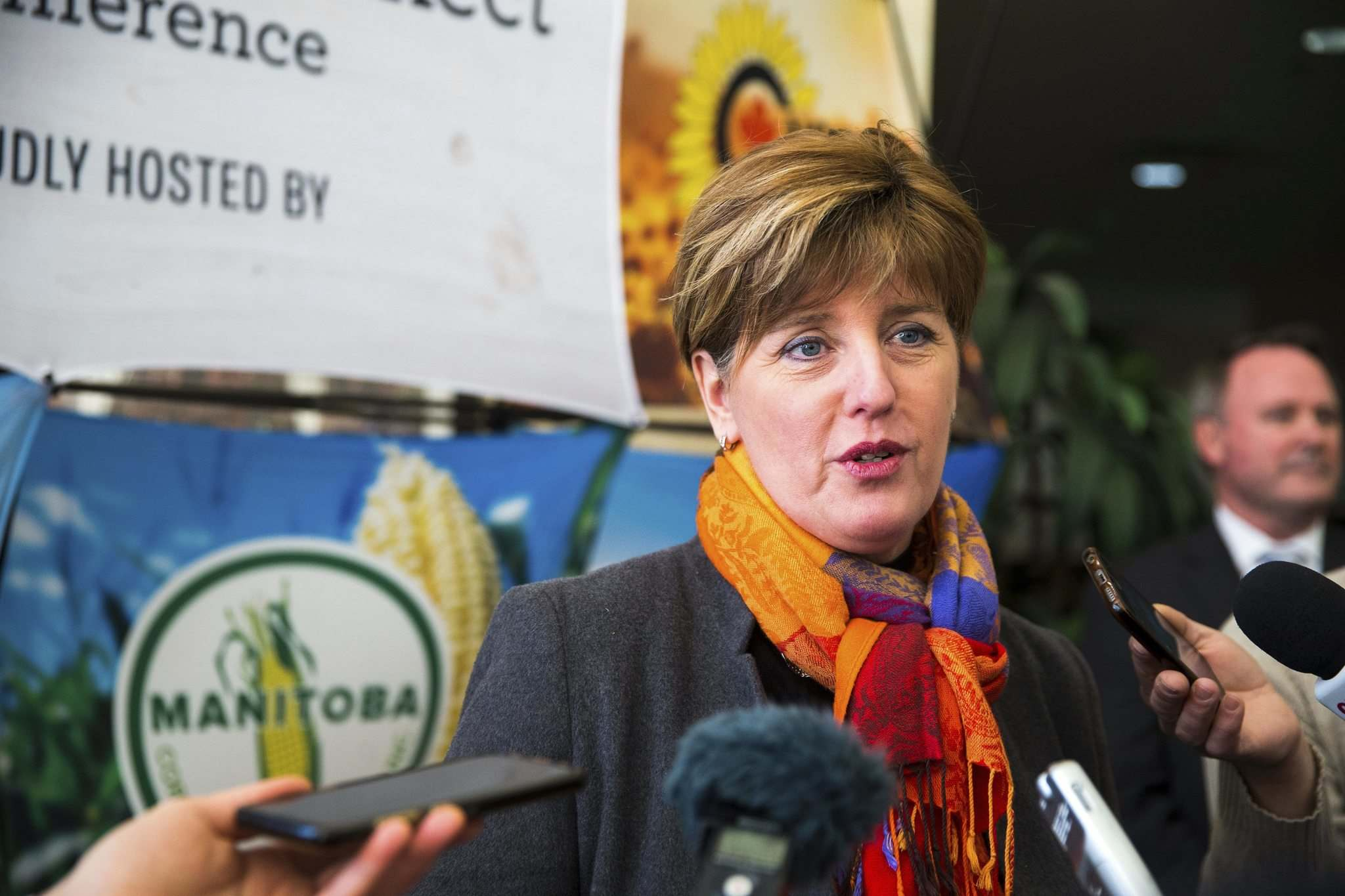 MIKAELA MACKENZIE / WINNIPEG FREE PRESS</p><p>Marie-Claude Bibeau, minister of agriculture and agri-food, said the government respects and appreciates the work of grain farmers during a visit to Winnipeg Wednesday.</p>
