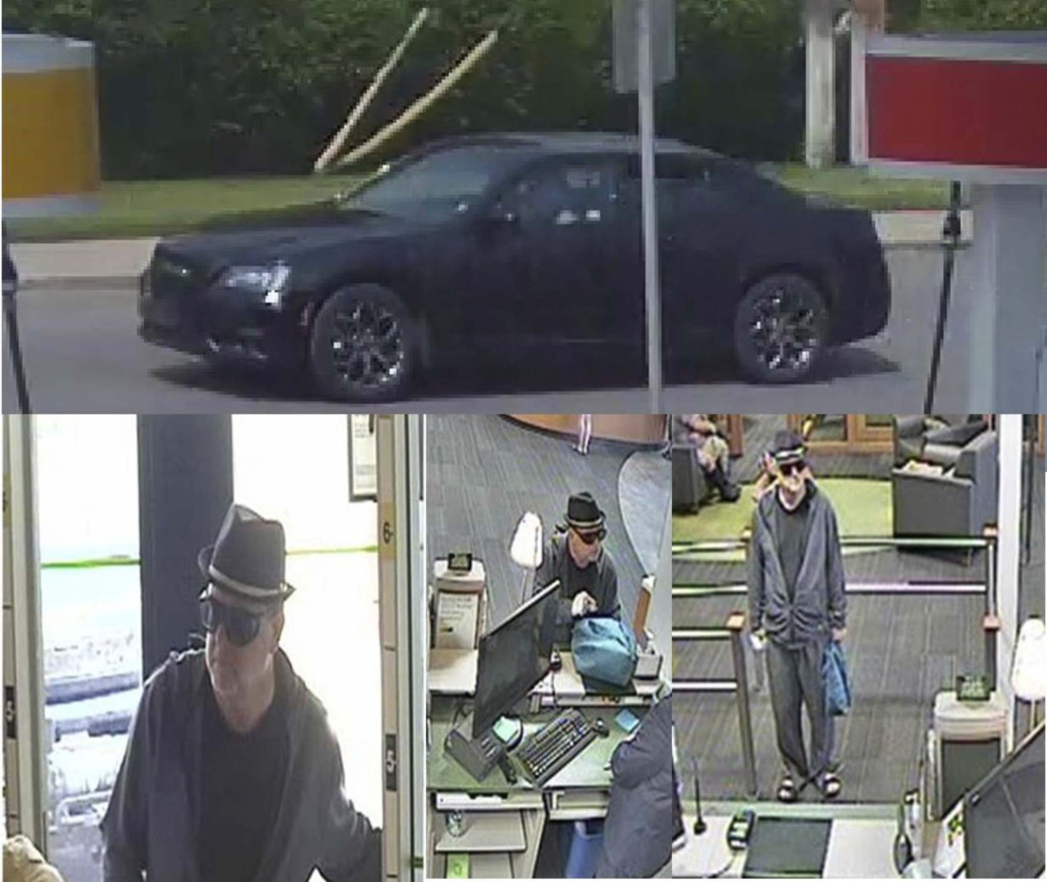 Saskatoon Police Service released these surveillance images in August 2017 in an effort to identify a suspect in a robbery of a financial institution. (Handout photo)