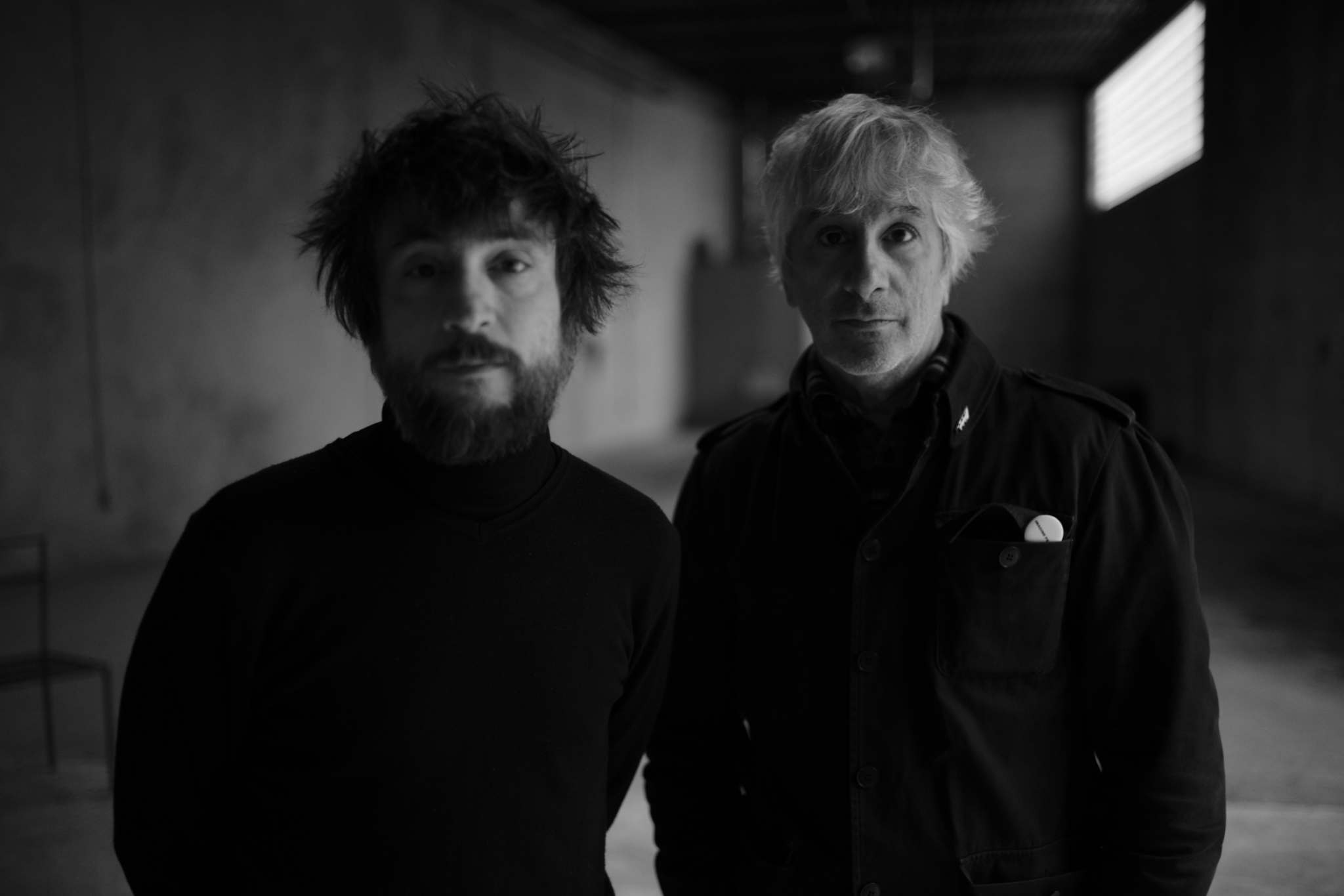 Raül Refree (left) and Lee Ranaldo's new album, Names of North End Women, was inspired by Winnipeg street signs. (Ari Marcopoulos photo)