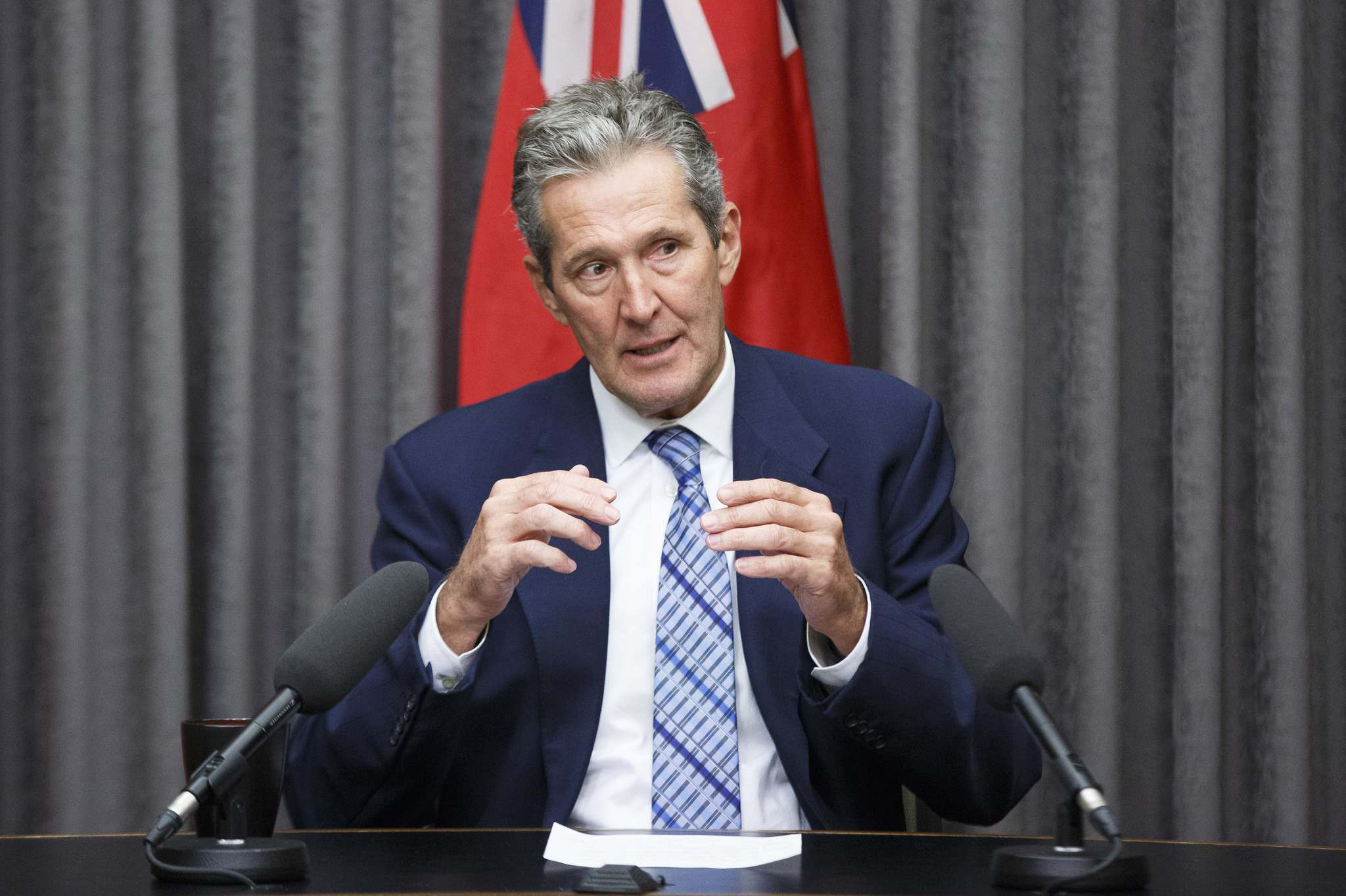 """Premier Brian Pallister disparaged the carbon tax as a """"hoax"""" last year, and more recently claimed the money is leaving Manitoba. (Mike Deal / Free Press files)"""