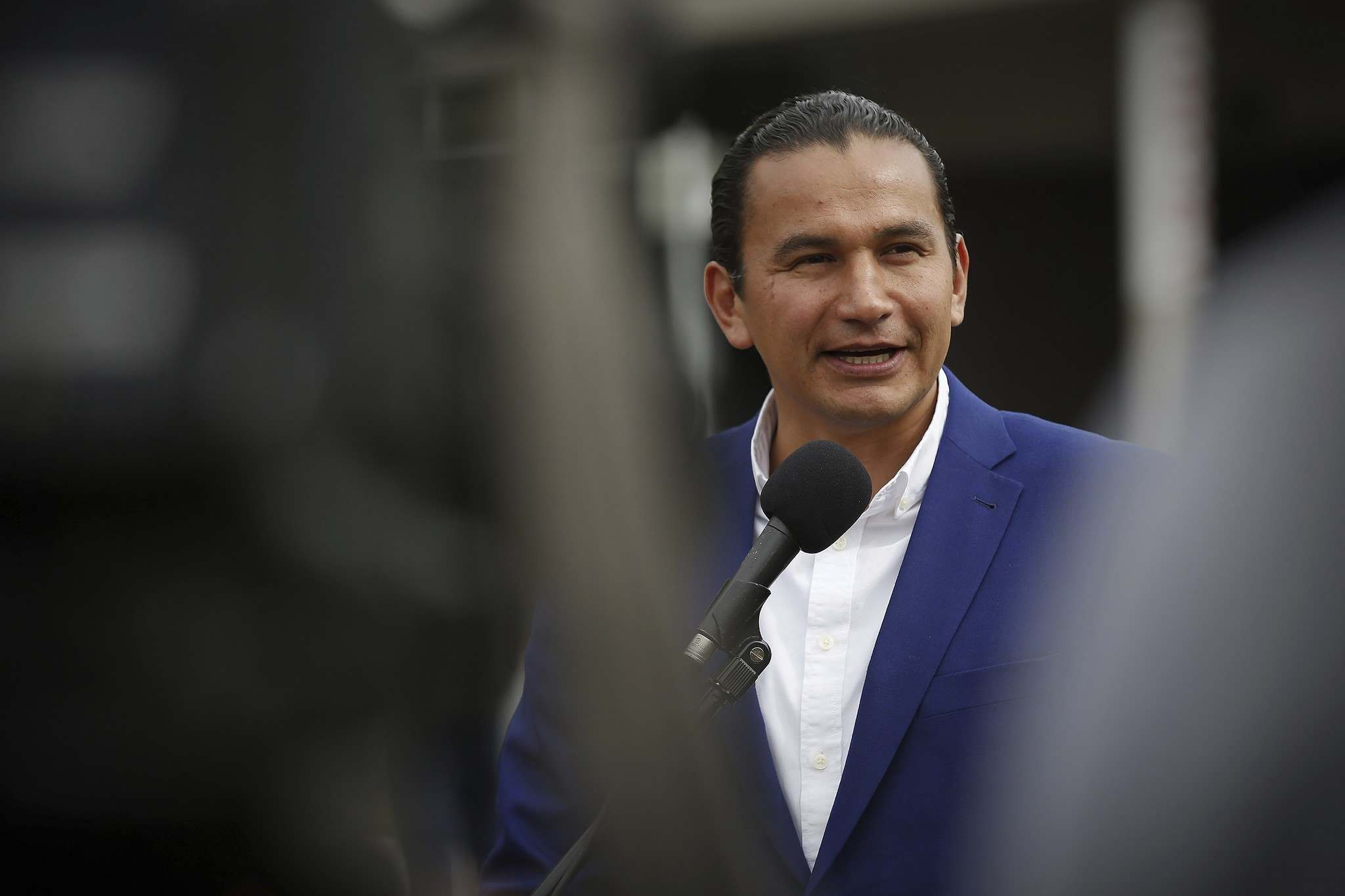 NDP Leader Wab Kinew introduced a private member's bill in December that would, if adopted, give the Métis leader the honorary title of first premier of Manitoba. (John Woods / The Canadian Press files)