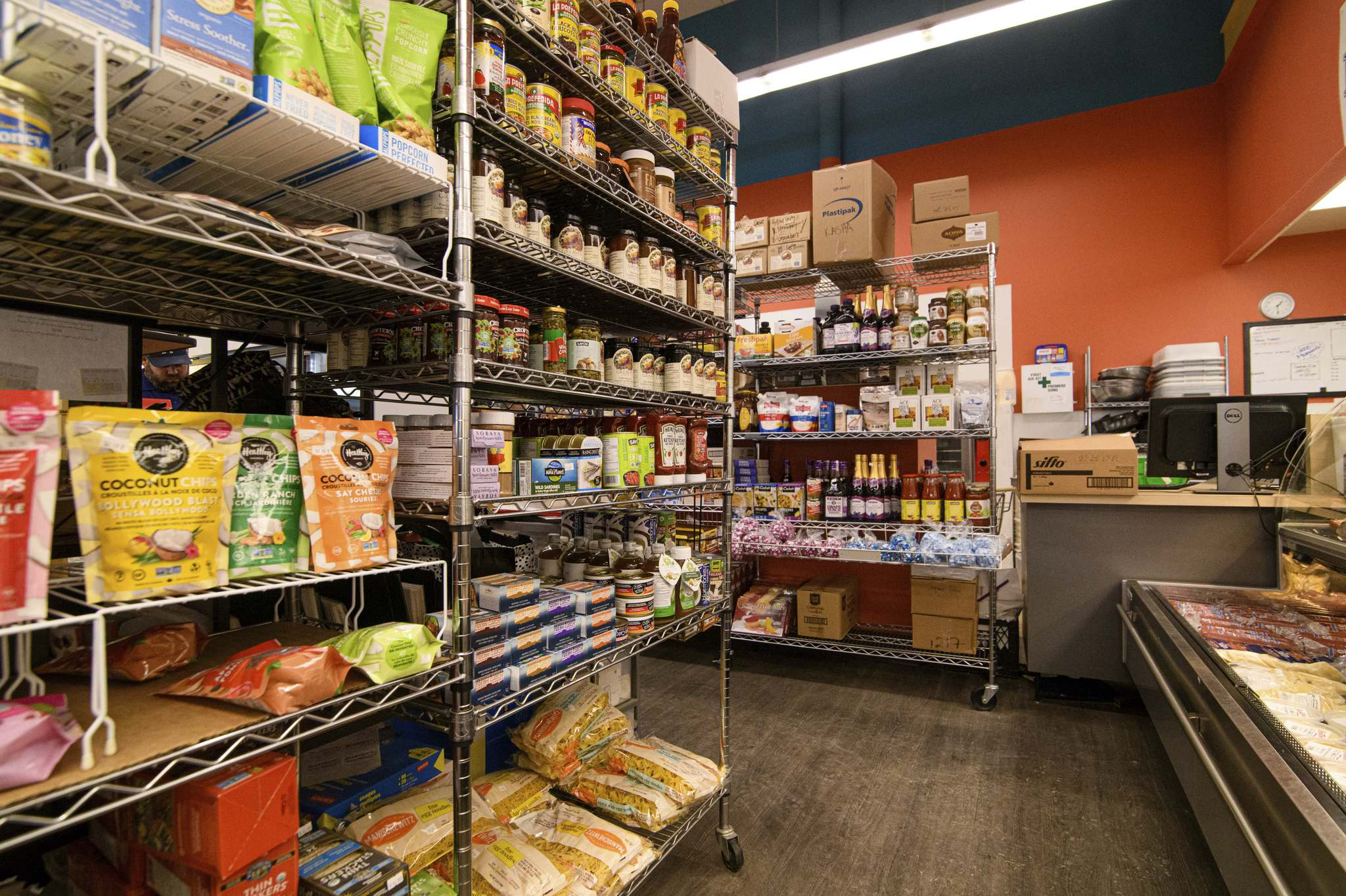 MIKE SUDOMA / WINNIPEG FREE PRESS</p><p>Shelves are stocked with grocery specialty items inside Bernstein's Delicatessen.</p>