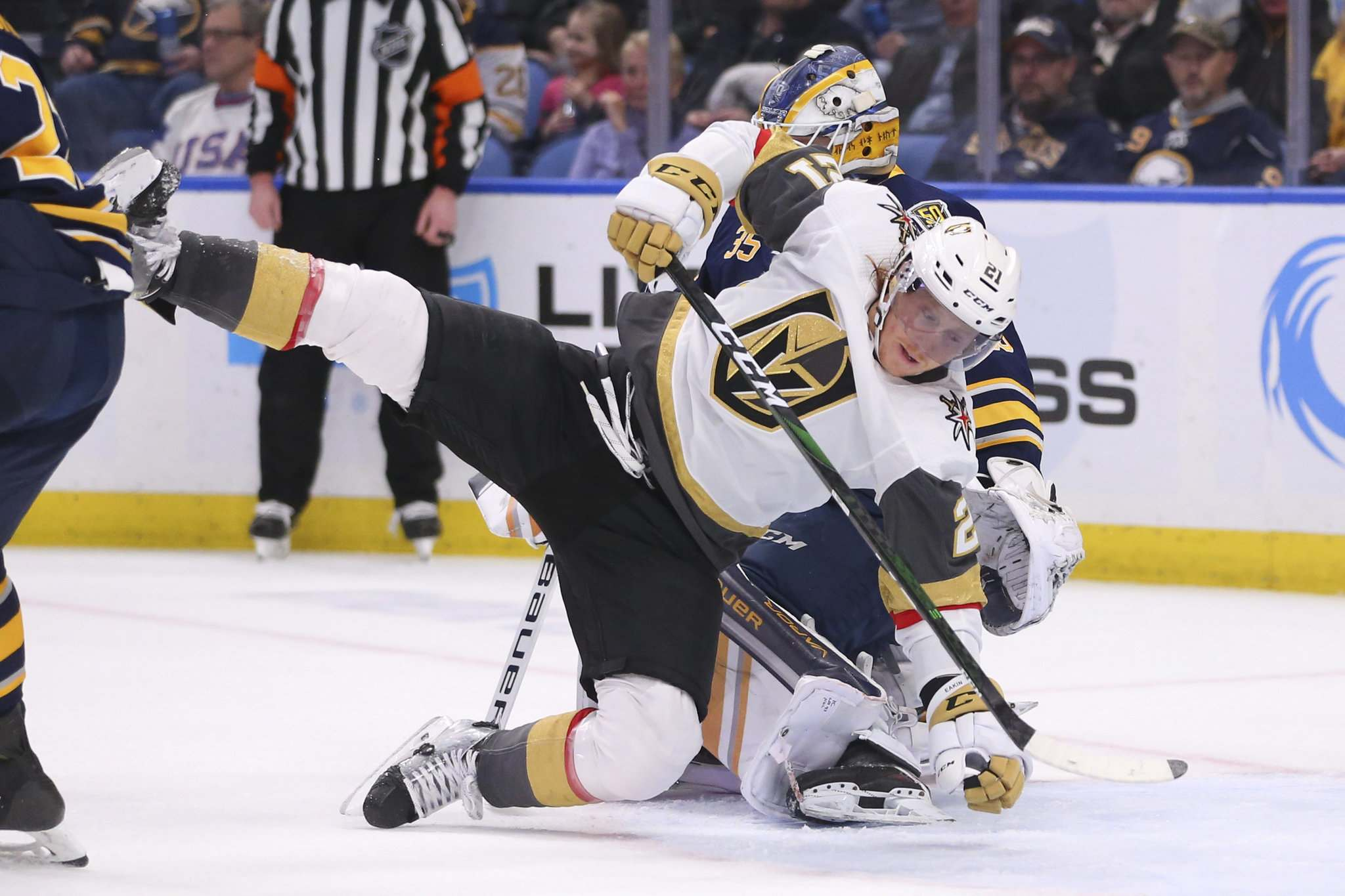 (AP Photo/Jeffrey T. Barnes)</p><p>Former Vegas Golden Knights forward Cody Eakin brings a level of compete in his game that the Jets are looking for.</p>