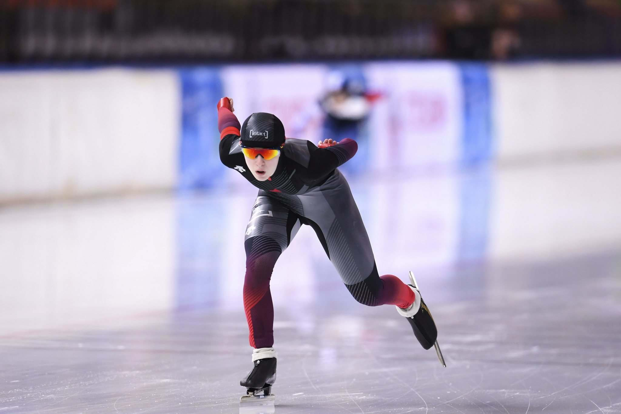 Oliver Hardt / Getty Images</p> Scott competing in the Ladies 1,500 meter race during the ISU Junior World Cup Speed Skating Final at Minsk Arena on February 16 in Minsk, Belarus.</p>