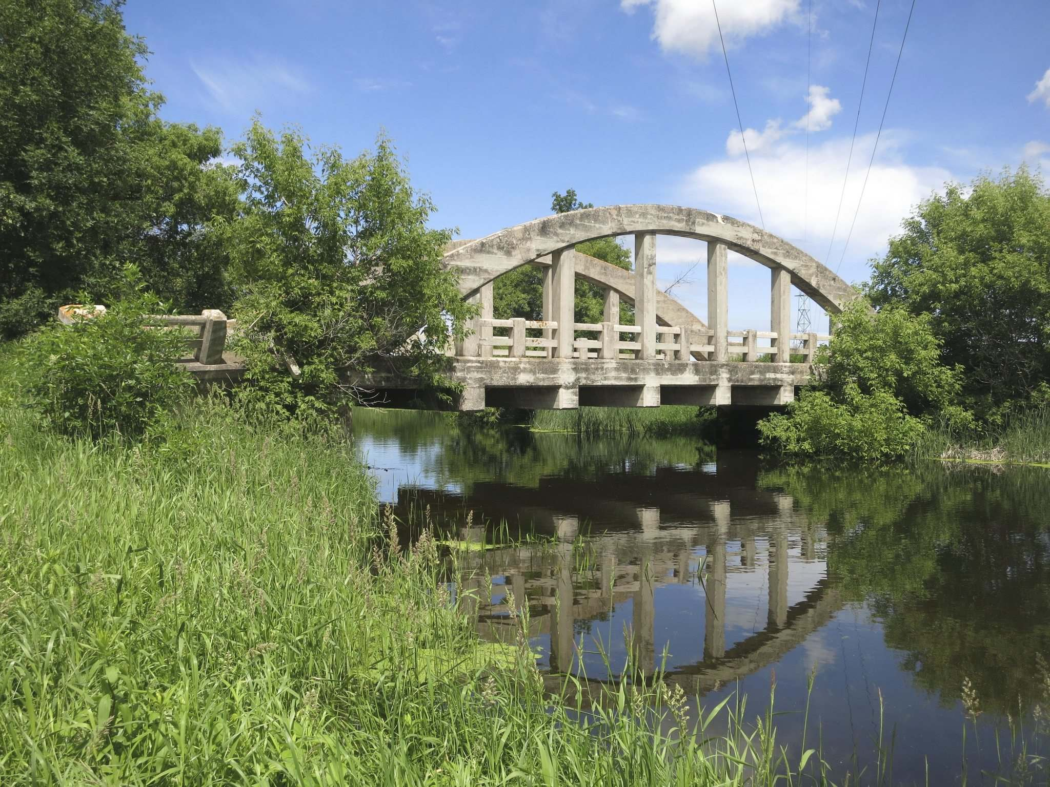 The Gervais Bowstring Bridge was constructed in 1919 at a cost of $7,000. (Gordon Goldsborough)