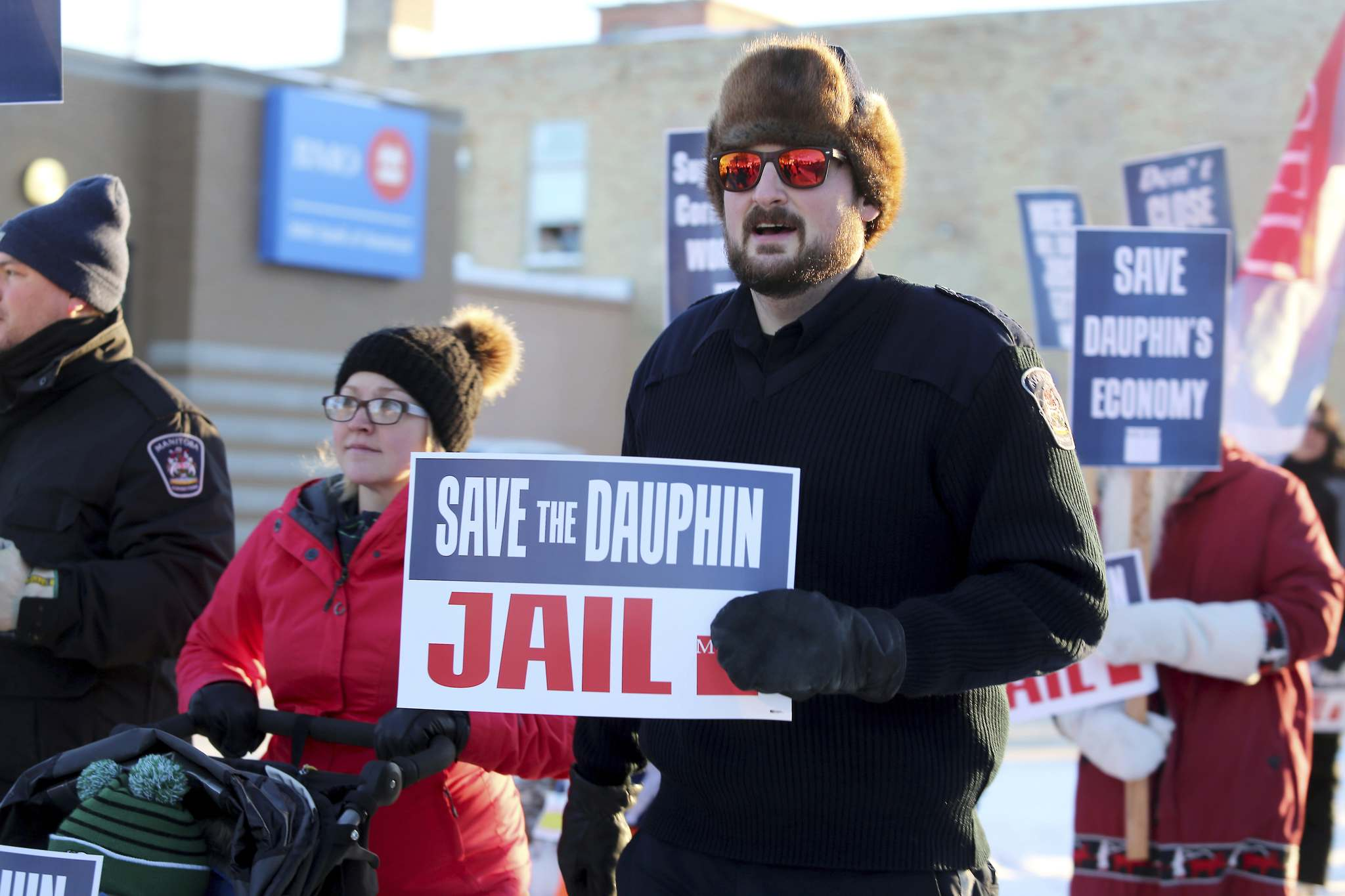 Employees and supporters have held several rallies to voice their opposition to the jail's closure. (Drew May / The Brandon Sun files)</p>