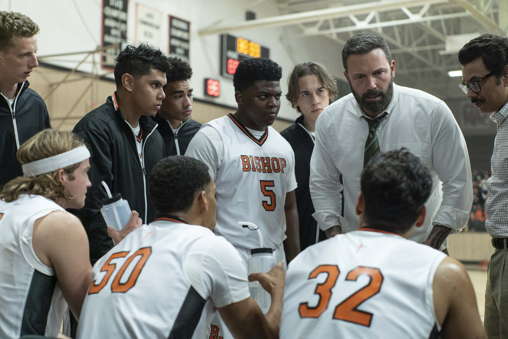 Richard Foreman / Warner Bros. </p><p>Jack Cunningham (Ben Affleck) coaches a ragtag team of high school basketball players in The Way Back.</p>