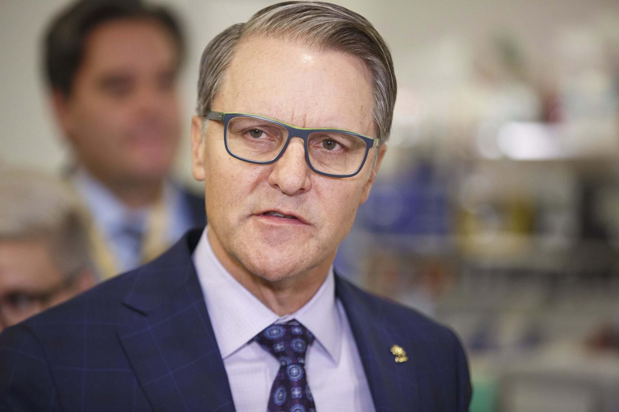 Health Minister Cameron Friesen says testing for COVID-19 has been ramped up from 40 per day to 500. (Mike Deal / Winnipeg Free Press)