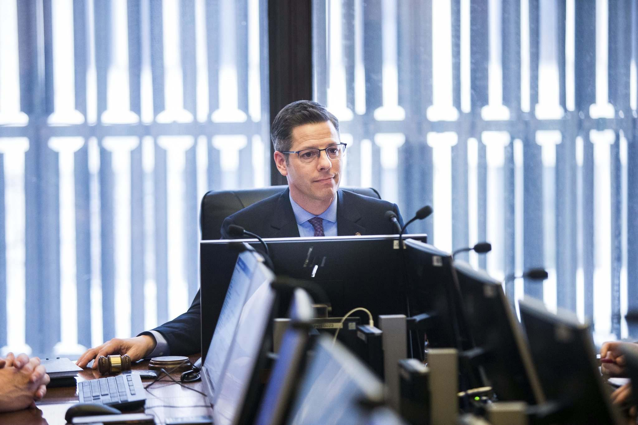 MIKAELA MACKENZIE / WINNIPEG FREE PRESS files</p><p>Mayor Brian Bowman presides over the March 6 meeting at which the city's 2020 budget was tabled. The final council vote on the budget is scheduled for Friday.</p>