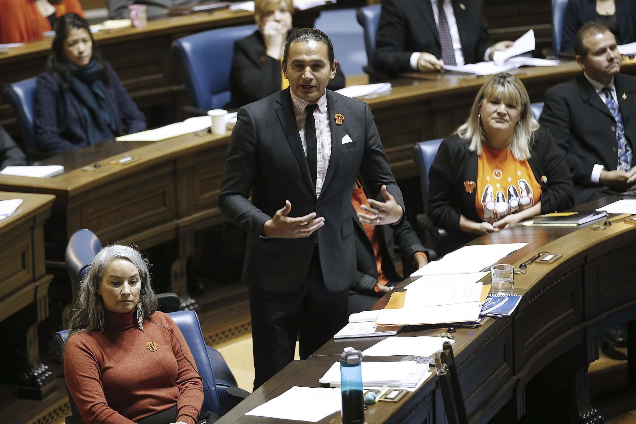 John Woods / The Canadian Press</p><p>NDP Leader Wab Kinew used procedural tactics to delay introduction of the Tory government's budget and other bills.</p>
