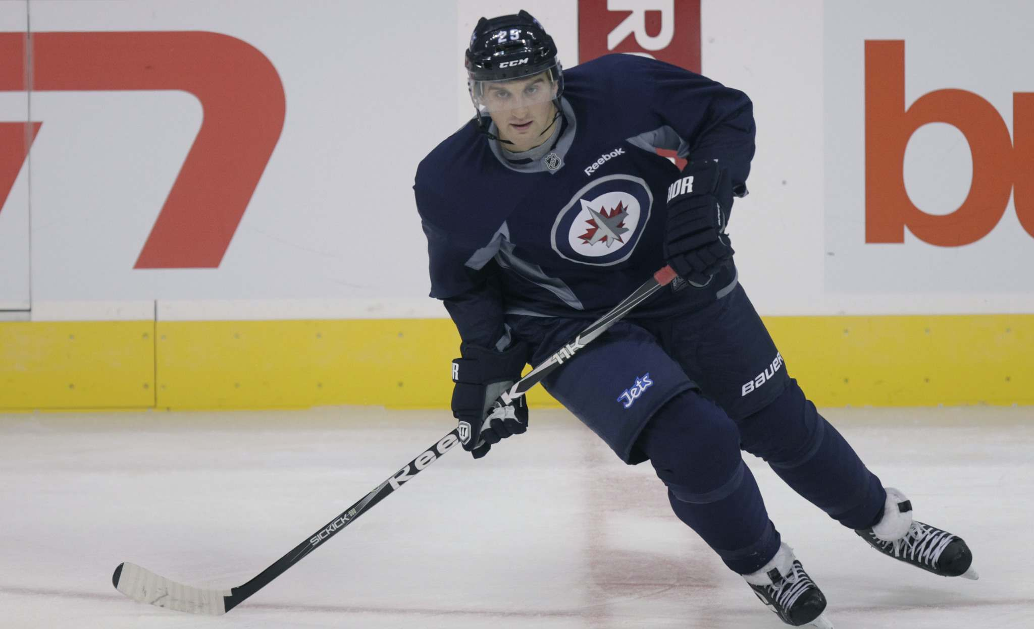 Brett MacLean played five games with the Jets.