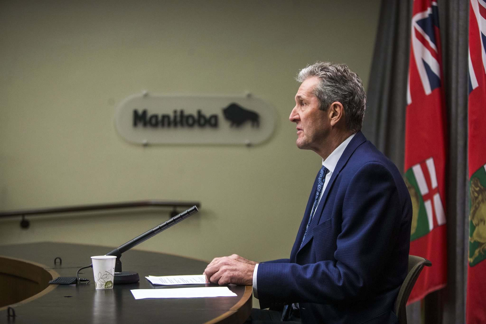 MIKAELA MACKENZIE / FREE PRESS FILES</p><p>Premier Brian Pallister announced Tuesday the Workers Compensation Board will return close to $37 million in surplus funds to employers.</p></p>