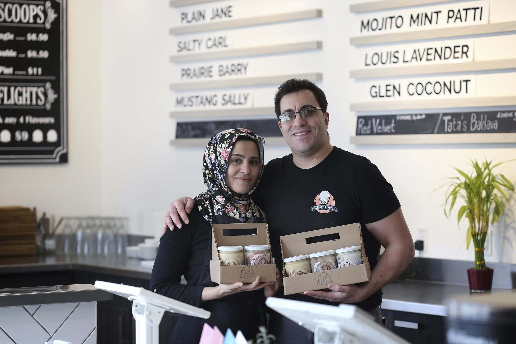 SHANNON VANRAES / WINNIPEG FREE PRESS</p><p>Joseph Chaeban and his wife Zainab Ali settled on a subscription model in order to better forecast the business's cash flow and cover expenses. Customers can sign up online and the minimum cost of a subscription is $20 for two pints of ice cream a month with free delivery.</p>