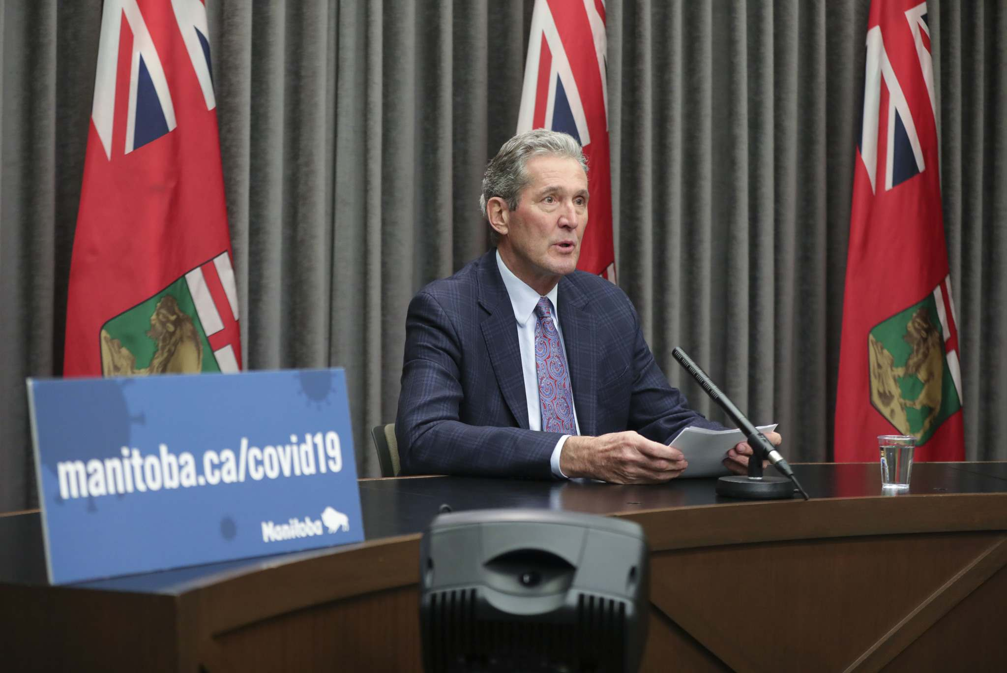 </p><p>Manitoba Premier Brian Pallister is using his aversion to debt to justify cuts to education and the civil service, but those are hardly significant when set against the scope of the economic damage from pandemic. (Ruth Bonneville / Winnipeg Free Press files)</p>