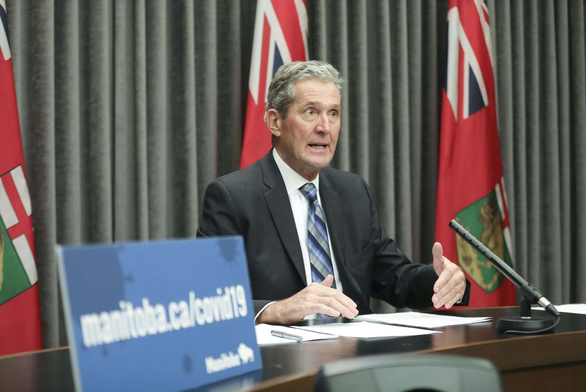 RUTH BONNEVILLE / WINNIPEG FREE PRESS</p><p>Premier Brian Pallister appears to have settled on a level of cuts lower than he first suggested. Instead of a 10 to 30 per cent reduction in staff, the province announced cuts would be 2.2 per cent.