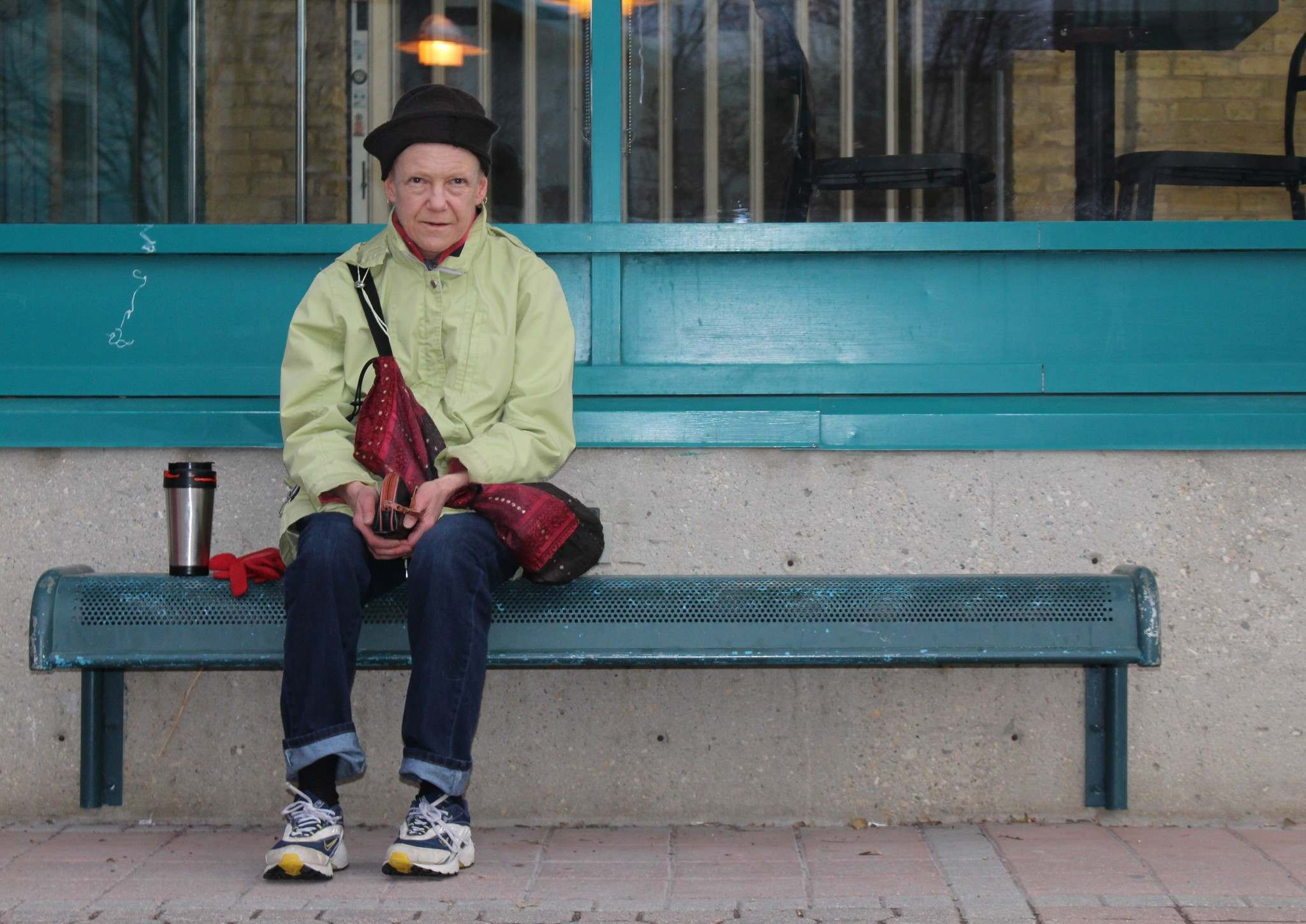 Vee, 72, is blind and walks daily at The Forks.