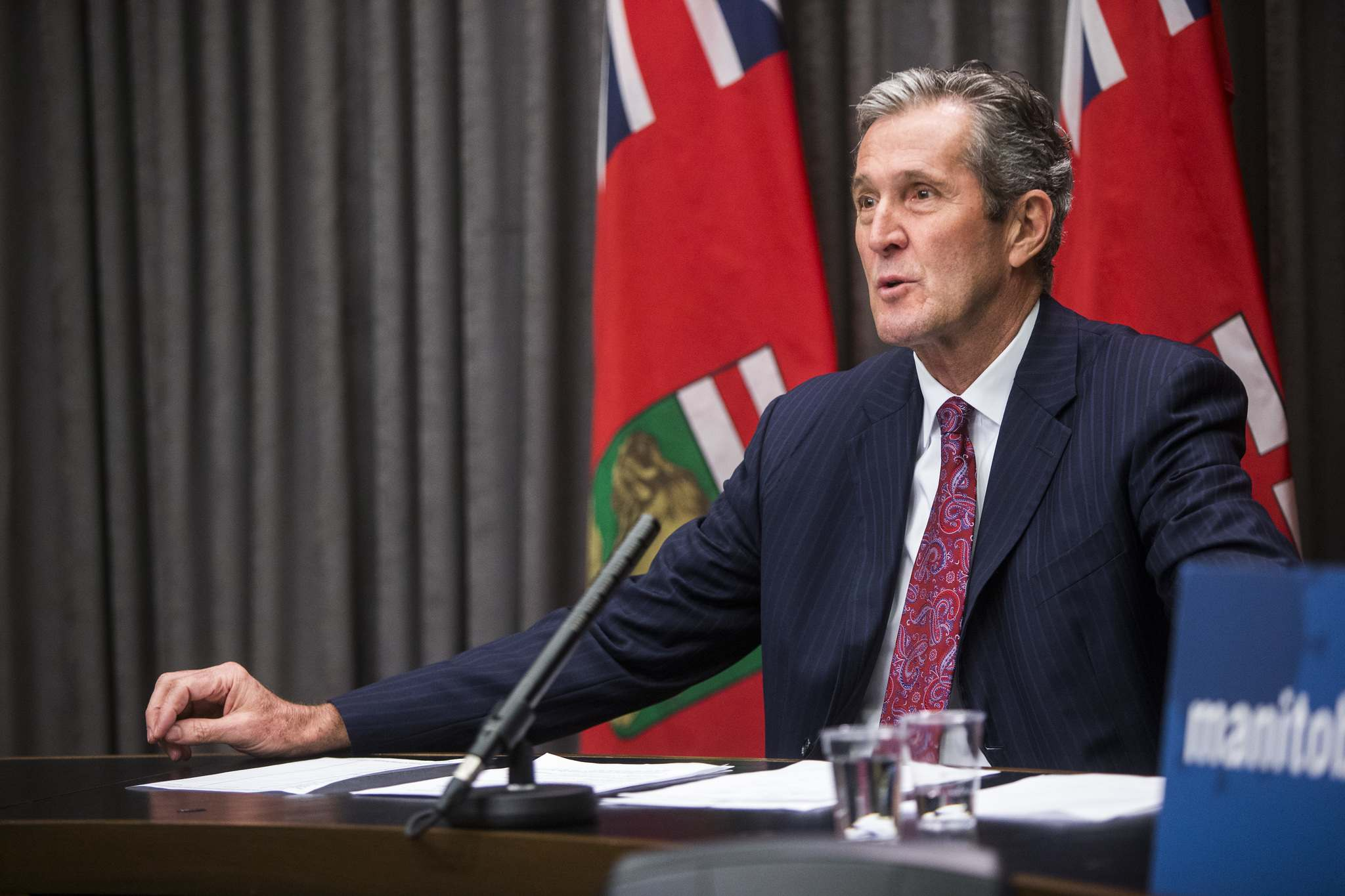 MIKAELA MACKENZIE / FREE PRESS FILES</p><p>Premier Brian Pallister announced the spending of an additional $500 million that would expand on already-announced infrastructure investments of $3 billion over the next two years.</p></p>
