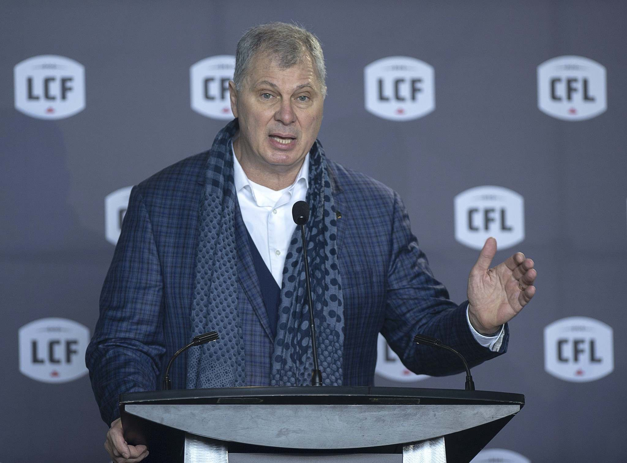 """We know a lot must fall into place for us to play games this September. I've said it myself, it doesn't appear to be our most likely scenario,"" Randy Ambrosie said."