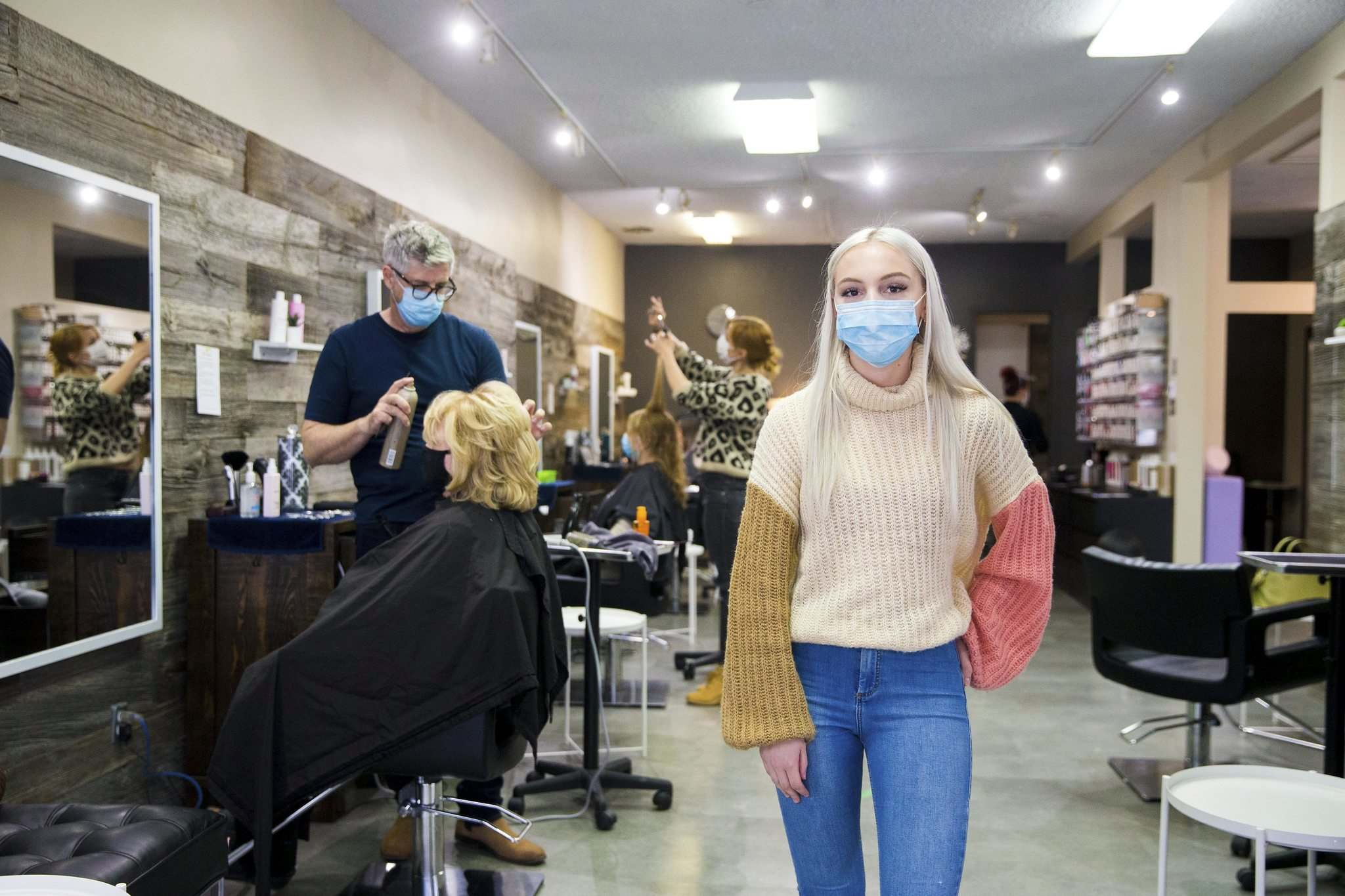 """""""We're booked up for the rest of this month and almost all of June as well,"""" says Sara Niemi, manager of Élan Hair Studio."""