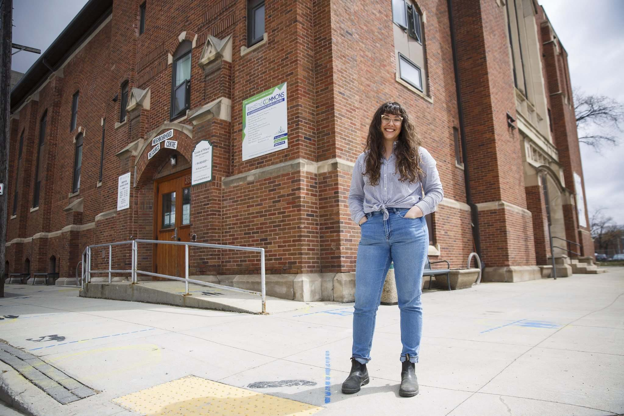 Caileigh Morrison says she's not the type to just sit around, so when she was laid off, she started looking for volunteer opportunities. She's fit right in at 1Just City. (Mike Deal / Winnipeg Free Press)</p>