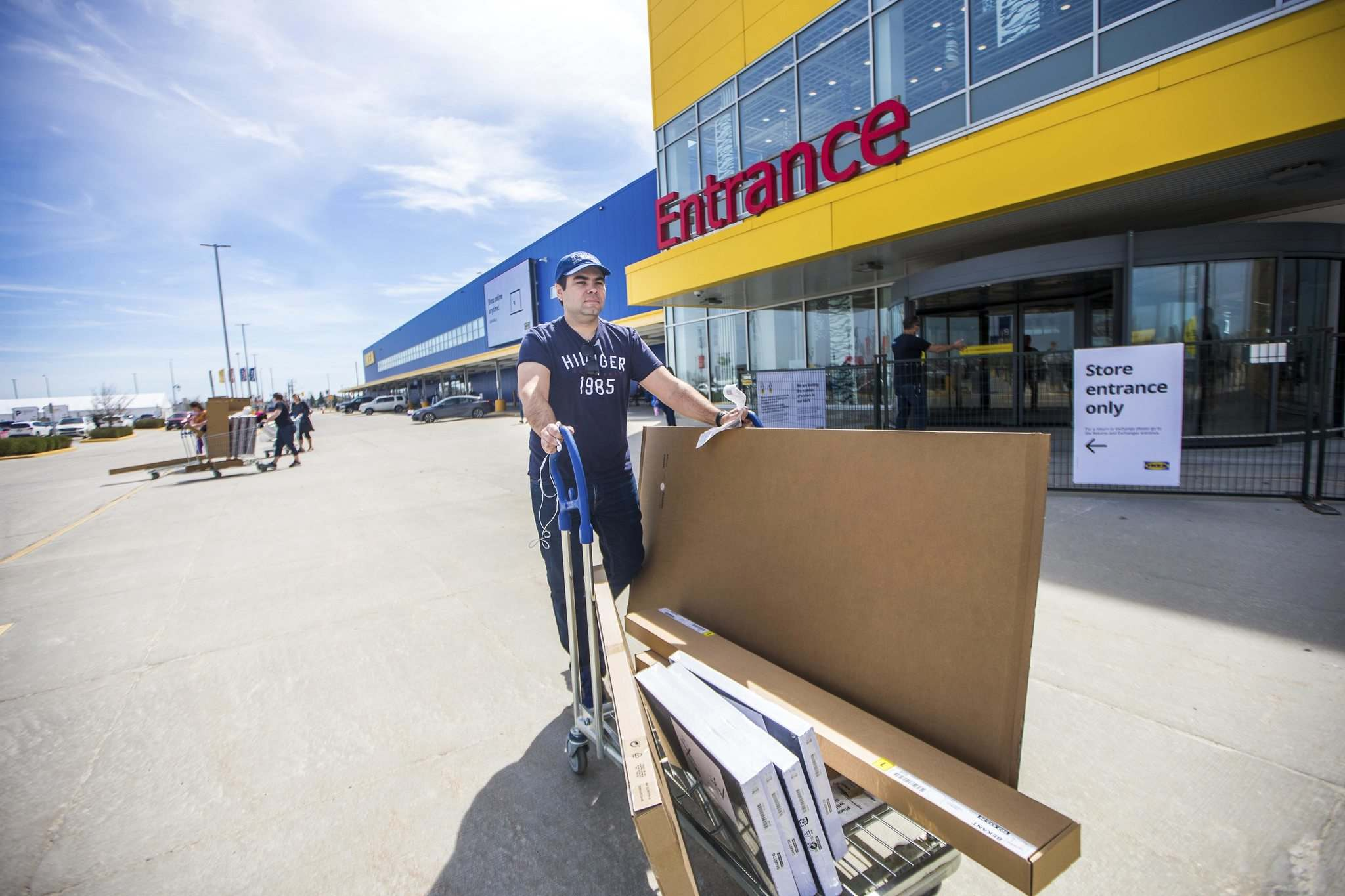 Marcelo Matos said he tried ordering products online after the IKEA closed, but found it would take up to six weeks to receive them.