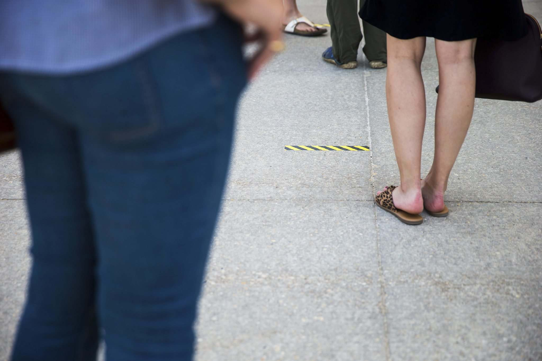 New health and safety measures at the store include strict two-metre social distancing guidelines, including floor and sidewalk decals to keep people lining up properly separated.