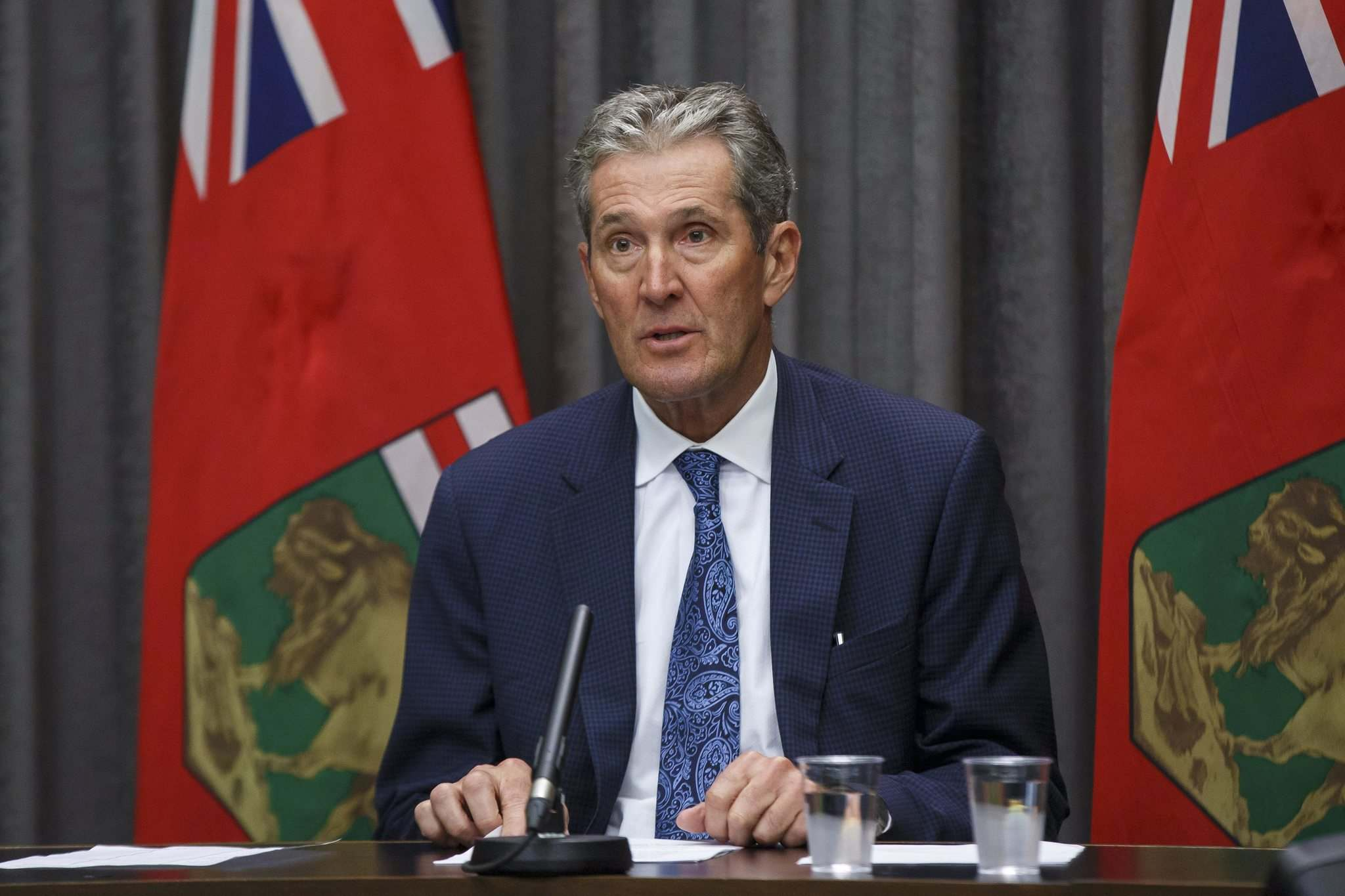 MIKE DEAL / FREE PRESS FILES</p><p>The government will be distributing $120 million to essential-service workers through the Manitoba Risk Recognition Program, Premier Brian Pallister announced today.</p></p>