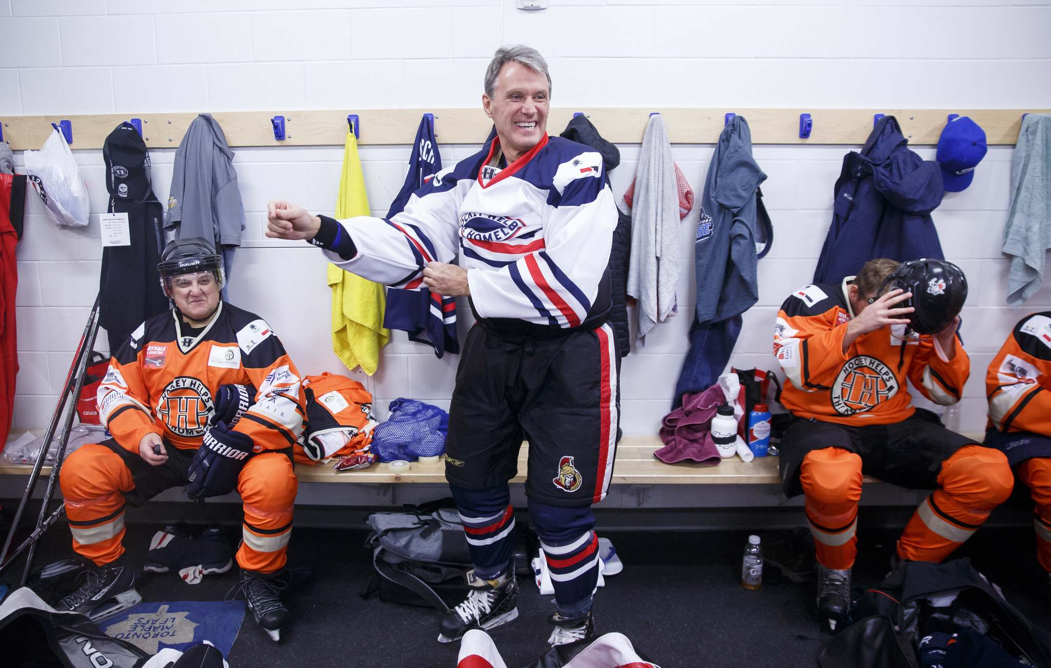 MIKE DEAL / WINNIPEG FREE PRESS files</p><p>Former Winnipeg Jet Laurie Boschman was in town to play in Winnipeg's first Hockey Helps the Homeless Tournament held at the Seven Oaks Arena last year.</p>