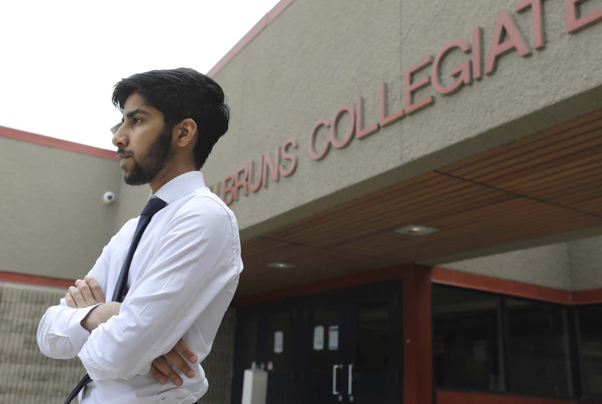 Umar Awan, a student at J. H. Bruns Collegiate, says there isn't real closure to high school without convocation, safe grad and the subsequent photoshoots. (Ruth Bonneville / Winnipeg Free Press)