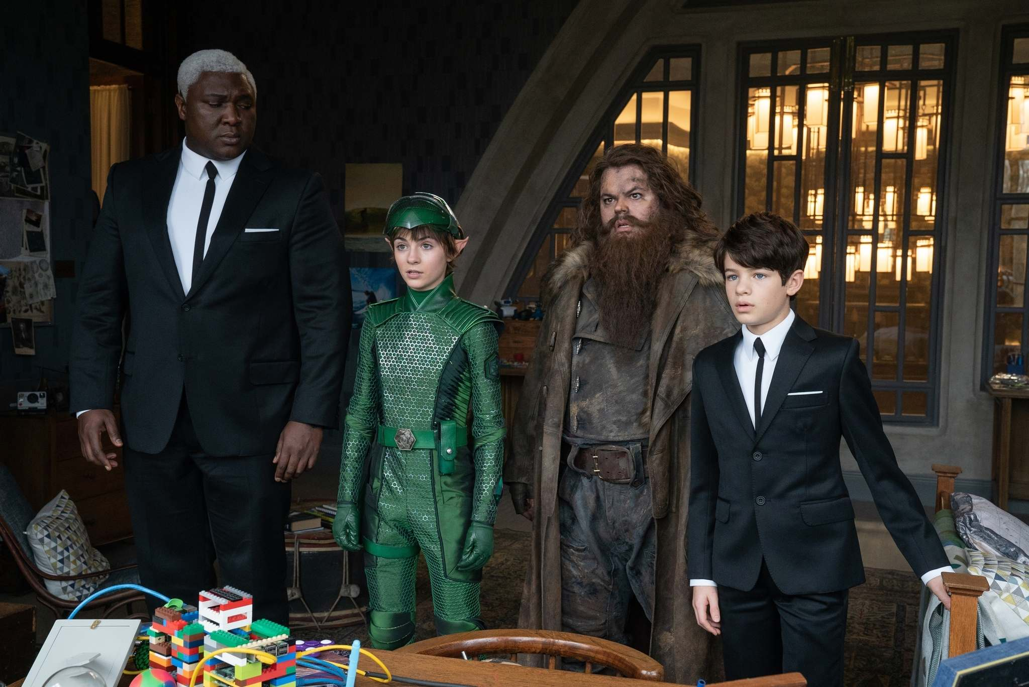Disney</p><p>From left: Nonso Anozie, Lara McDonnell, Josh Gad and Ferdia Shaw in Artemis Fowl.</p>