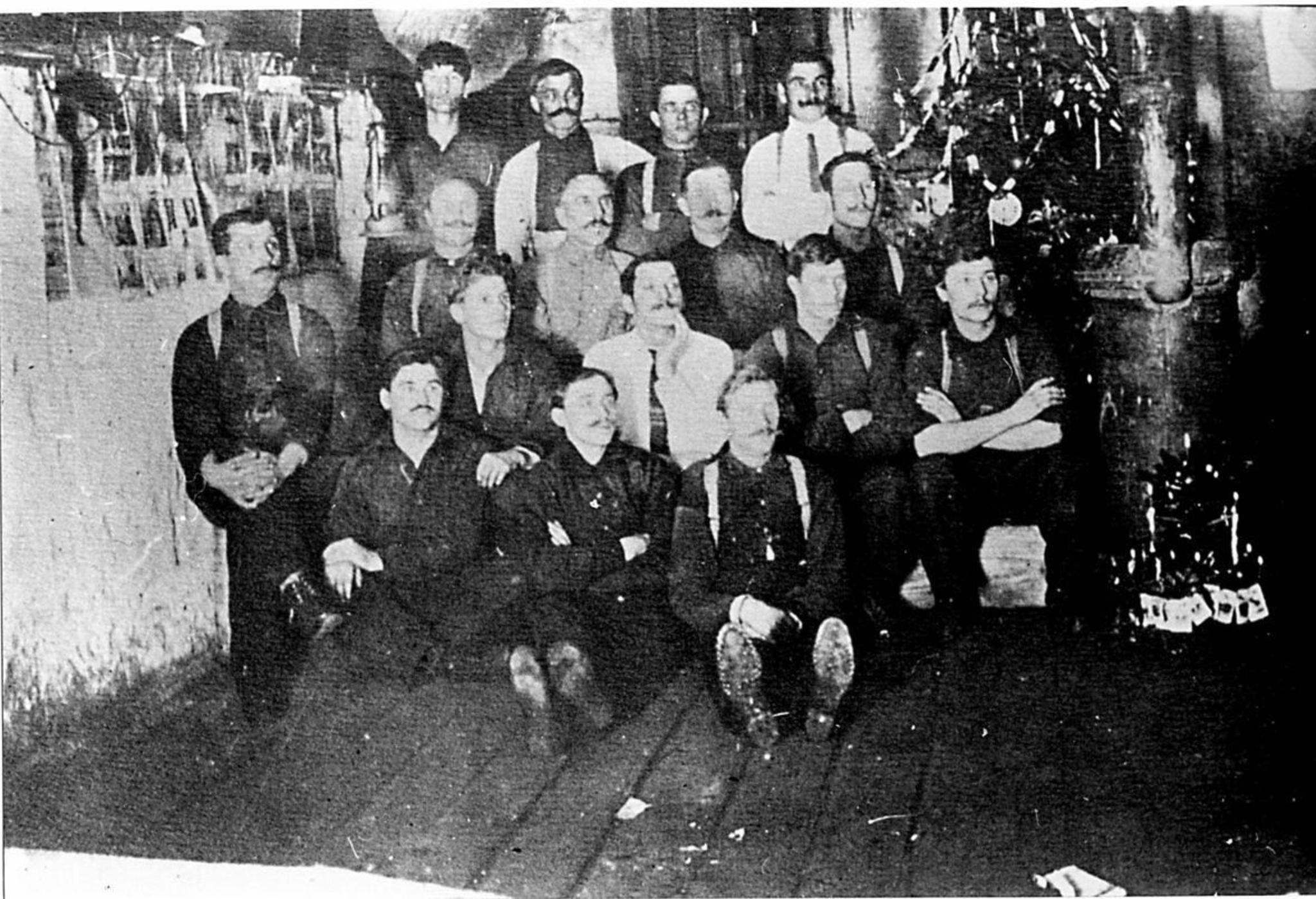 SUPPLIED IMAGE</p><p>Nick Sakaliuk (second from left, seated) at the internment camp in Fort Henry, circa 1915.</p>