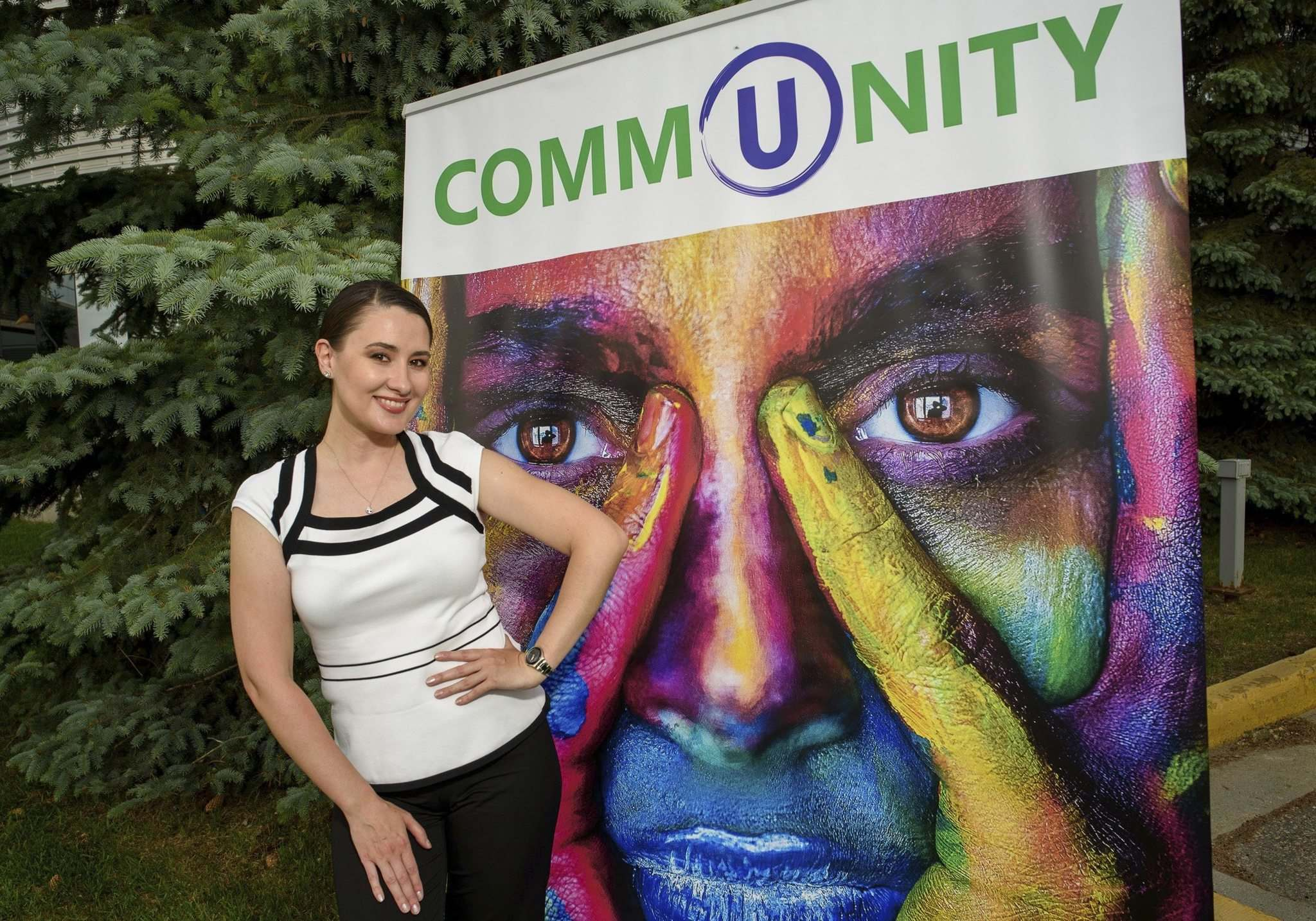 Since Taya Rtichsheva started U Multicultural last year, it has grown to include more than 15 different communities and organizations under its umbrella. (Jesse Boily / Winnipeg Free Press)</p>