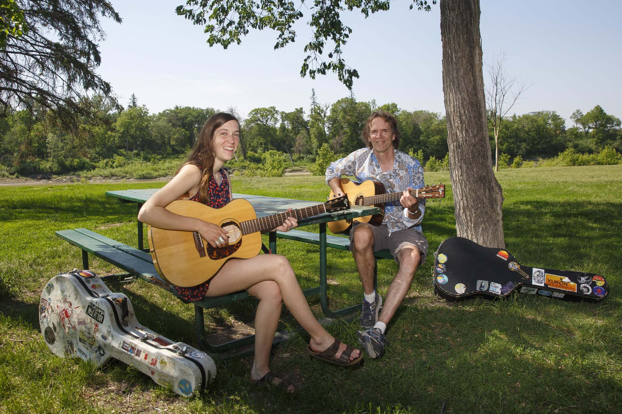 Lloyd Peterson and daughter Madeleine Roger don't make big fuss about Father's Day: 'We know how we feel about each other.' (Mike Deal / Winnipeg Free Press)</p>