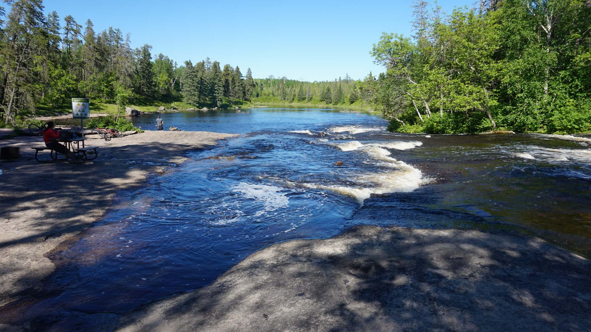 A bicycle trip to Pine Point rapids is a fun ride with a spectacular destination.</p>