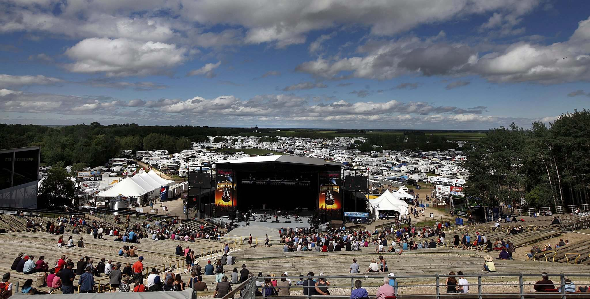 PHIL HOSSACK / WINNIPEG FREE PRESS files</p><p>The Selo Ukrainia site in Dauphin offers a panoramic view from the top of the grandstand at the mainstage.</p></p>