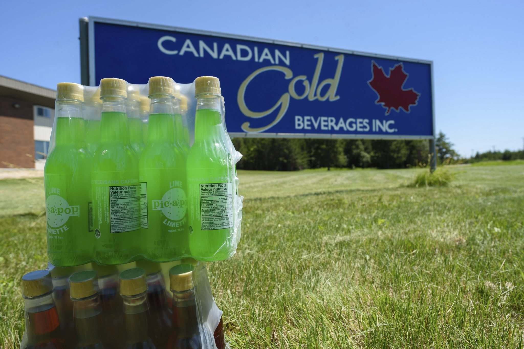 Canadian Gold Beverages in Marchand has been producing Pic-a-Pop since 2014. (Jesse Boily / Winnipeg Free Press)</p>