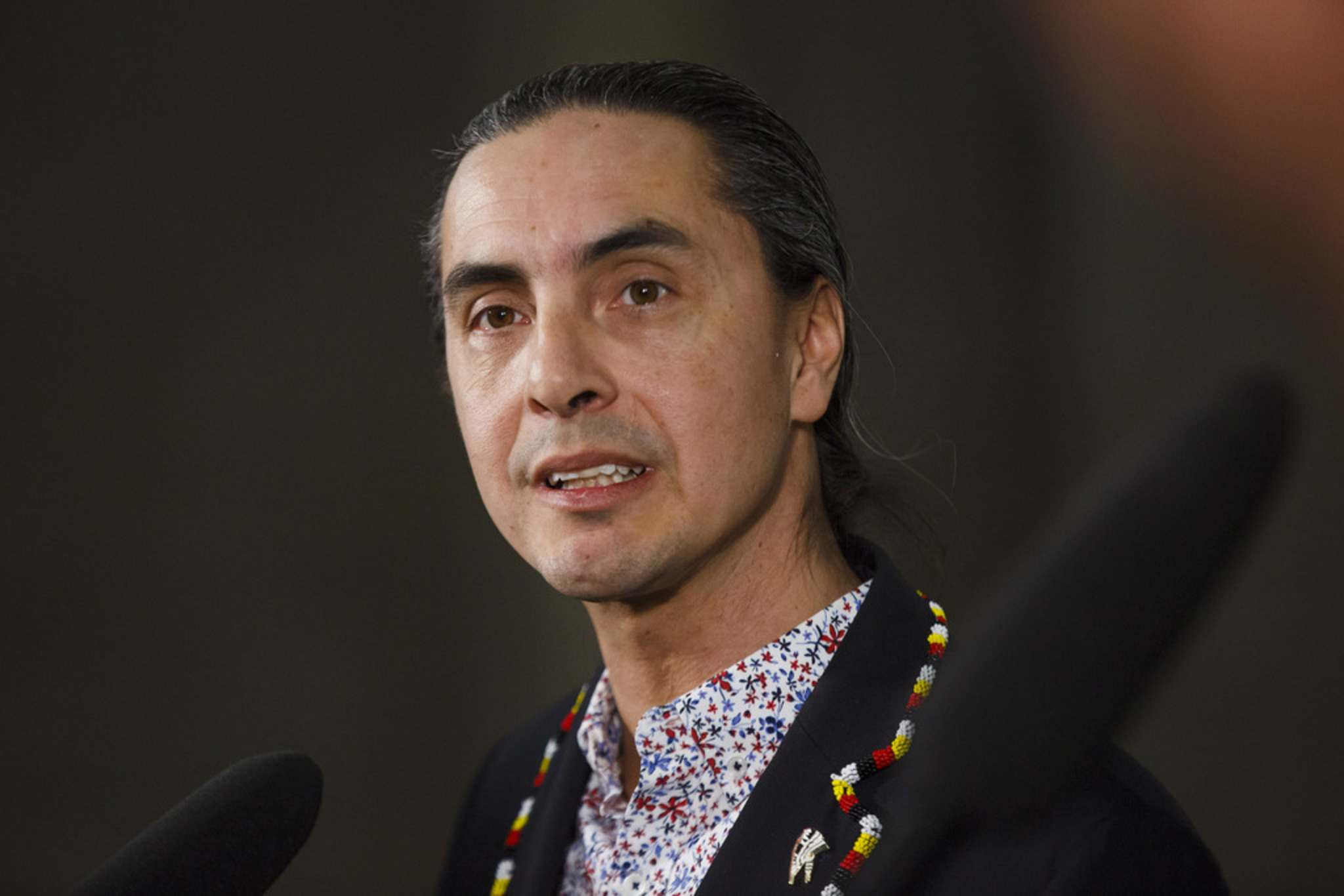 "Grand Chief Arlen Dumas of the Assembly of Manitoba Chiefs said the new rate schedule proposed by Hydro ""is not reasonable, as it unjustly impacts First Nations customers."" (Mike Deal / Winnipeg Free Press files)"