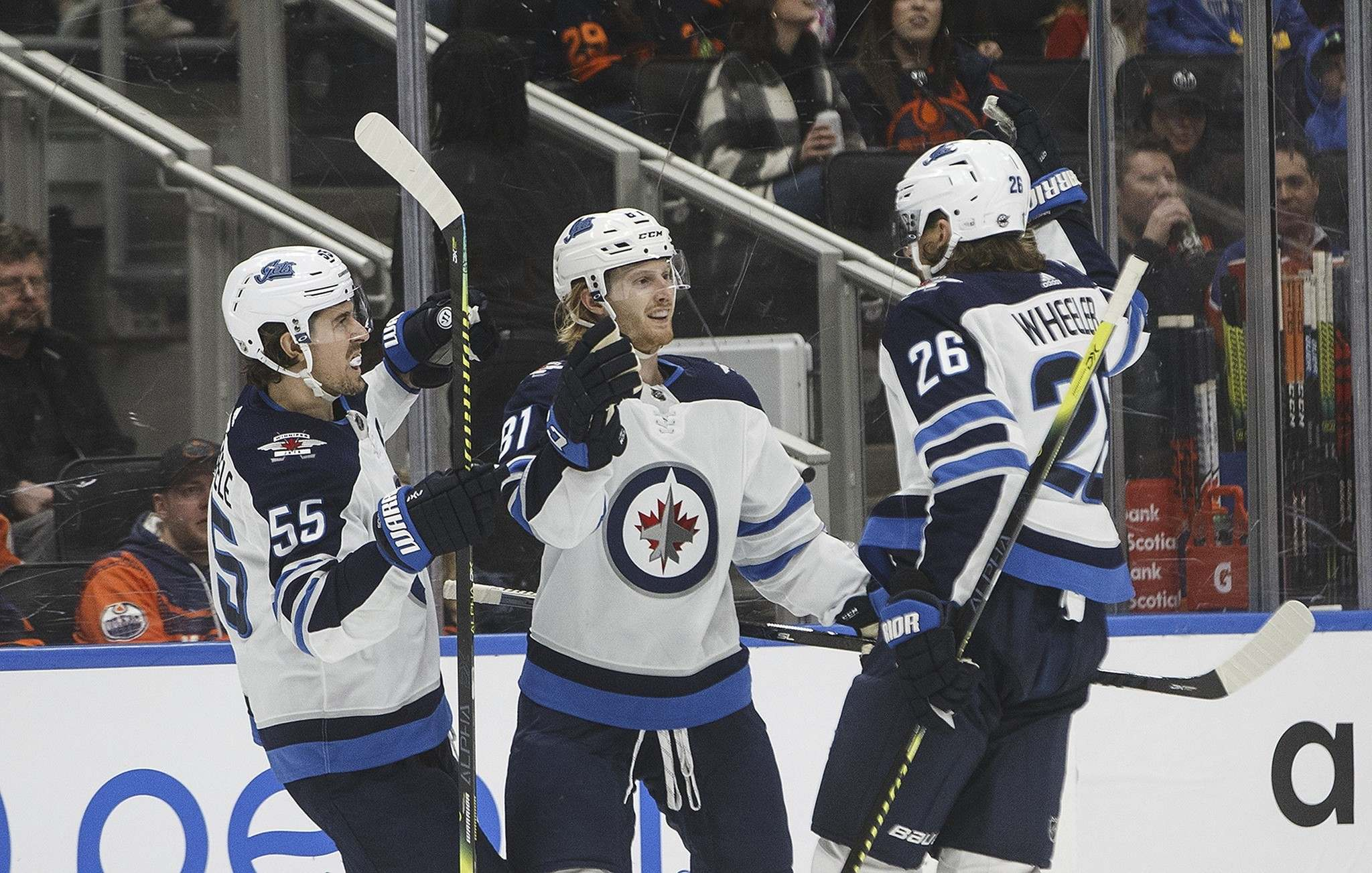 Mark Scheifele, Kyle Connor, and Blake Wheeler are among the Jets who will be put through their paces Monday morning to prepare for the 24-team Stanley Cup tournament that starts Aug. 1. (Jason Franson / The Canadian Press files)</p>