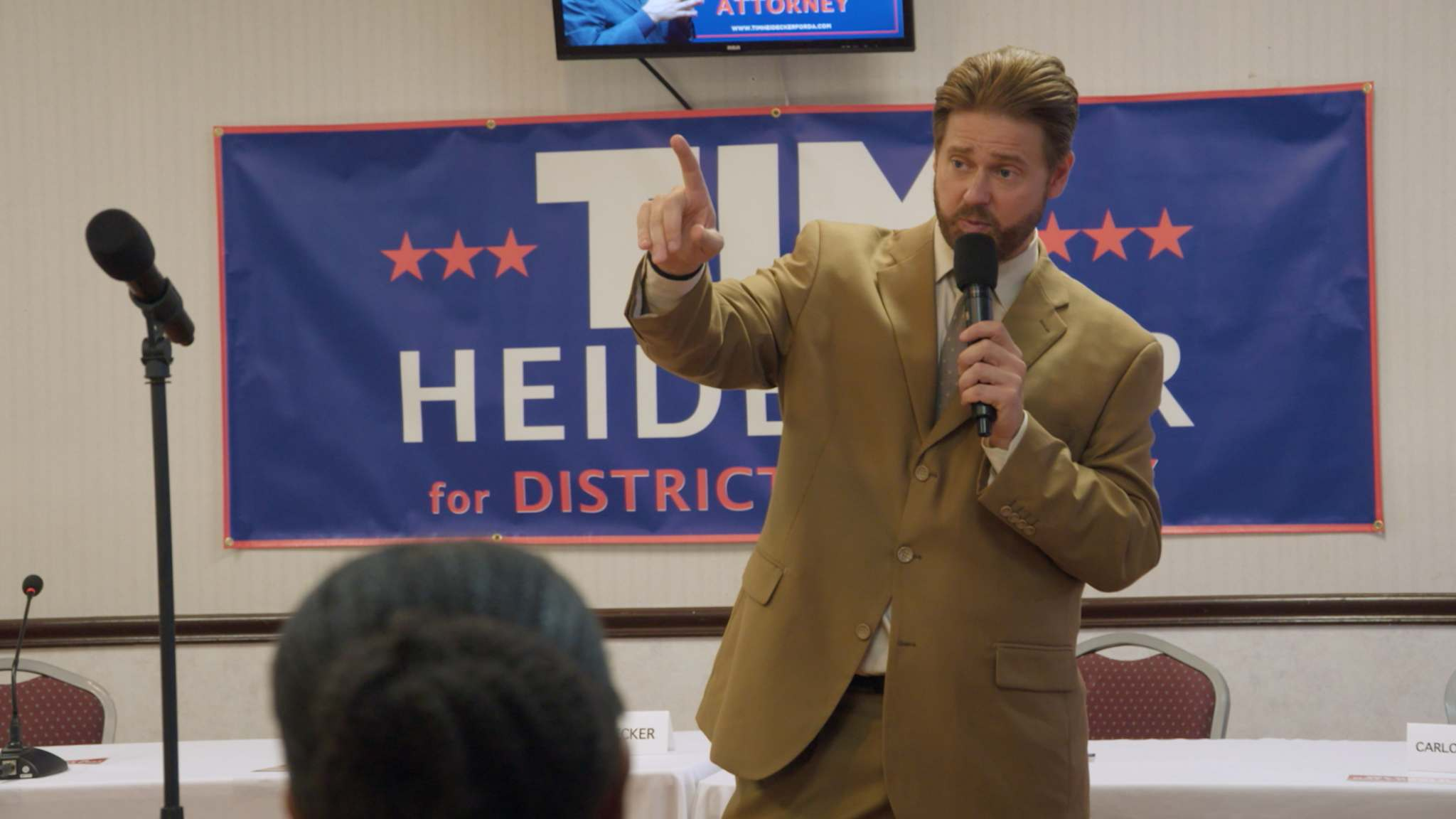 Magnolia Pictures</p><p>Tim Heidecker plays a bigoted, ignorant, opportunist version of himself in Mister America.</p>