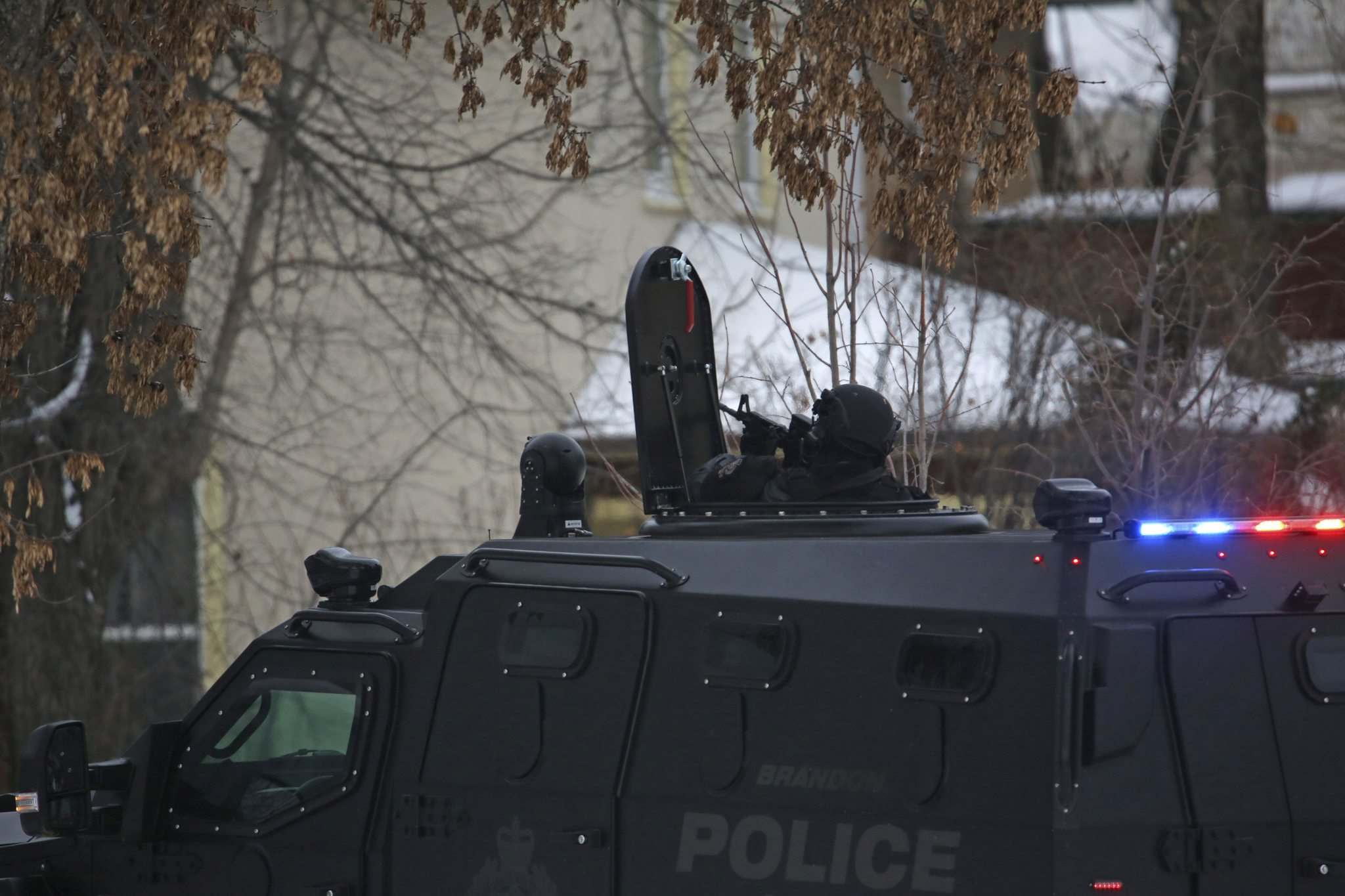 Matt Goerzen / Brandon Sun files</p><p>Brandon police use the armoured rescue vehicle to respond to an incident this year, one of five occasions when it was deployed.</p></p>