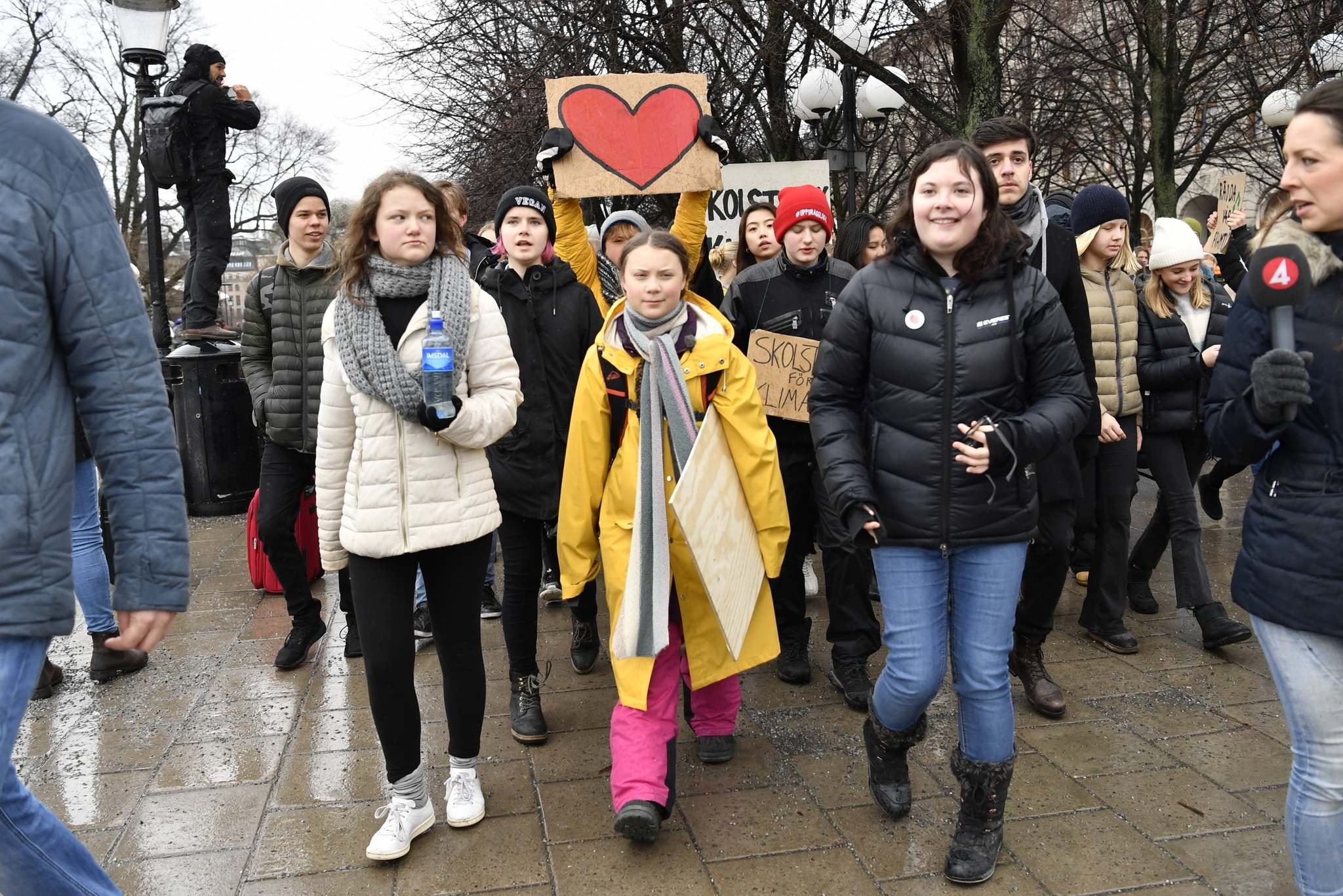 Henrik Montgomery / The Associated Press files</p><p>In this 2019 photo, activist Greta Thunberg (centre) and her sister Beata Ernman (left) take part in a climate protest in Stockholm, Sweden.</p>