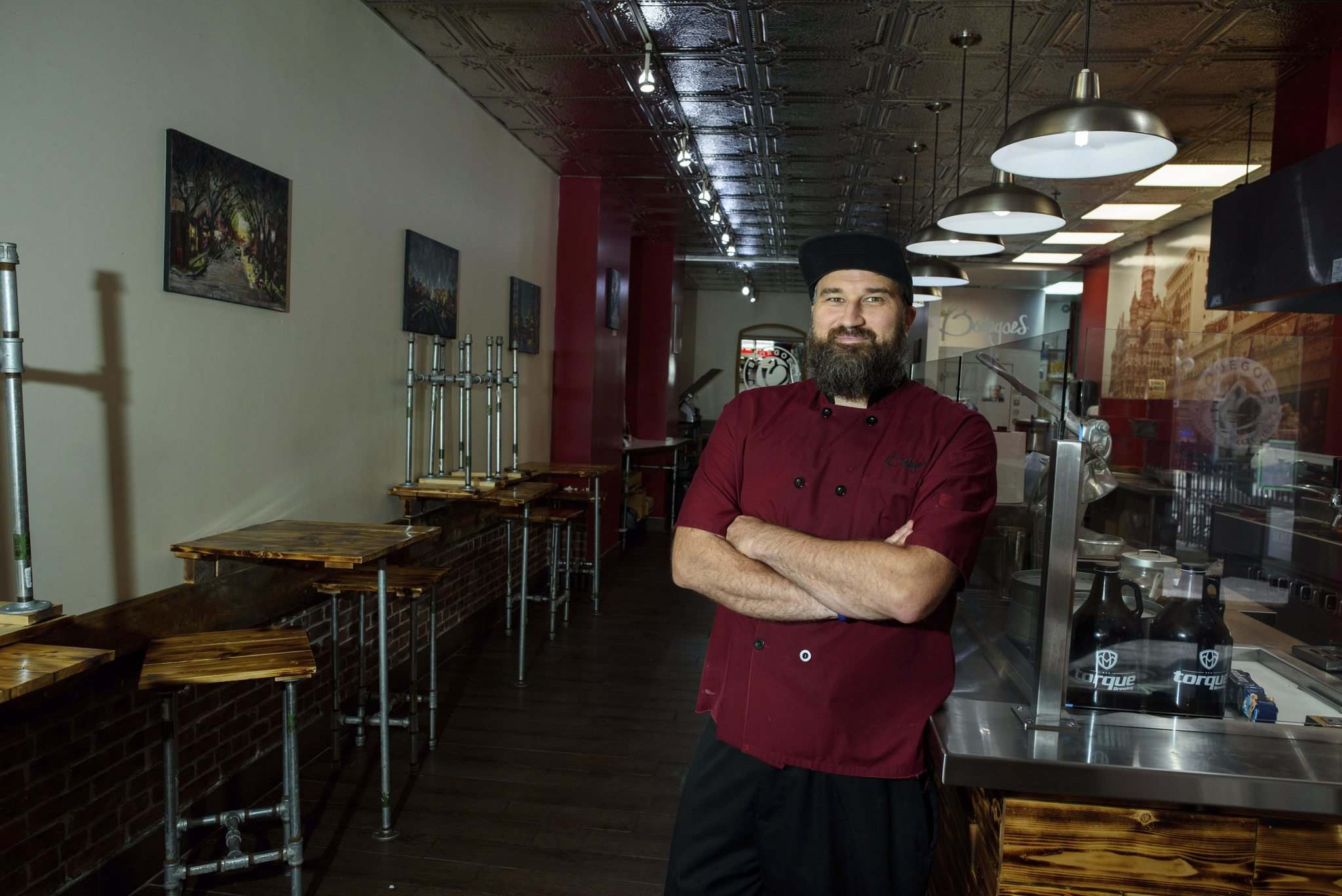 Nick Van Seggelen, Bodegoes' owner, said even with takeout and delivery, sales are less than 50 per cent of the seasonal normal.