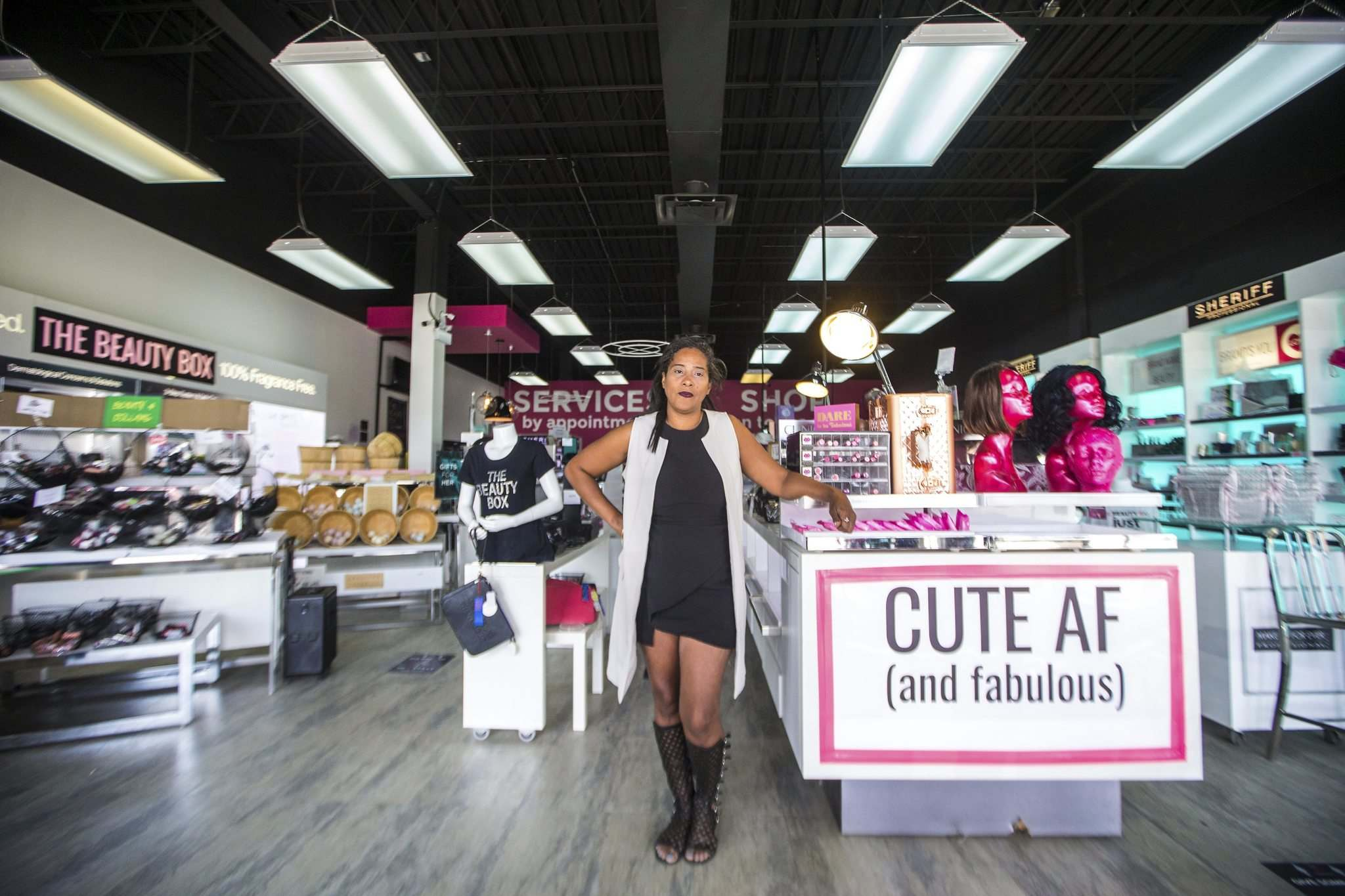 Beauty Box owner Carla Deroy says she doesn't know if things will ever be normal for her business again. (Mikaela MacKenzie / Winnipeg Free Press)