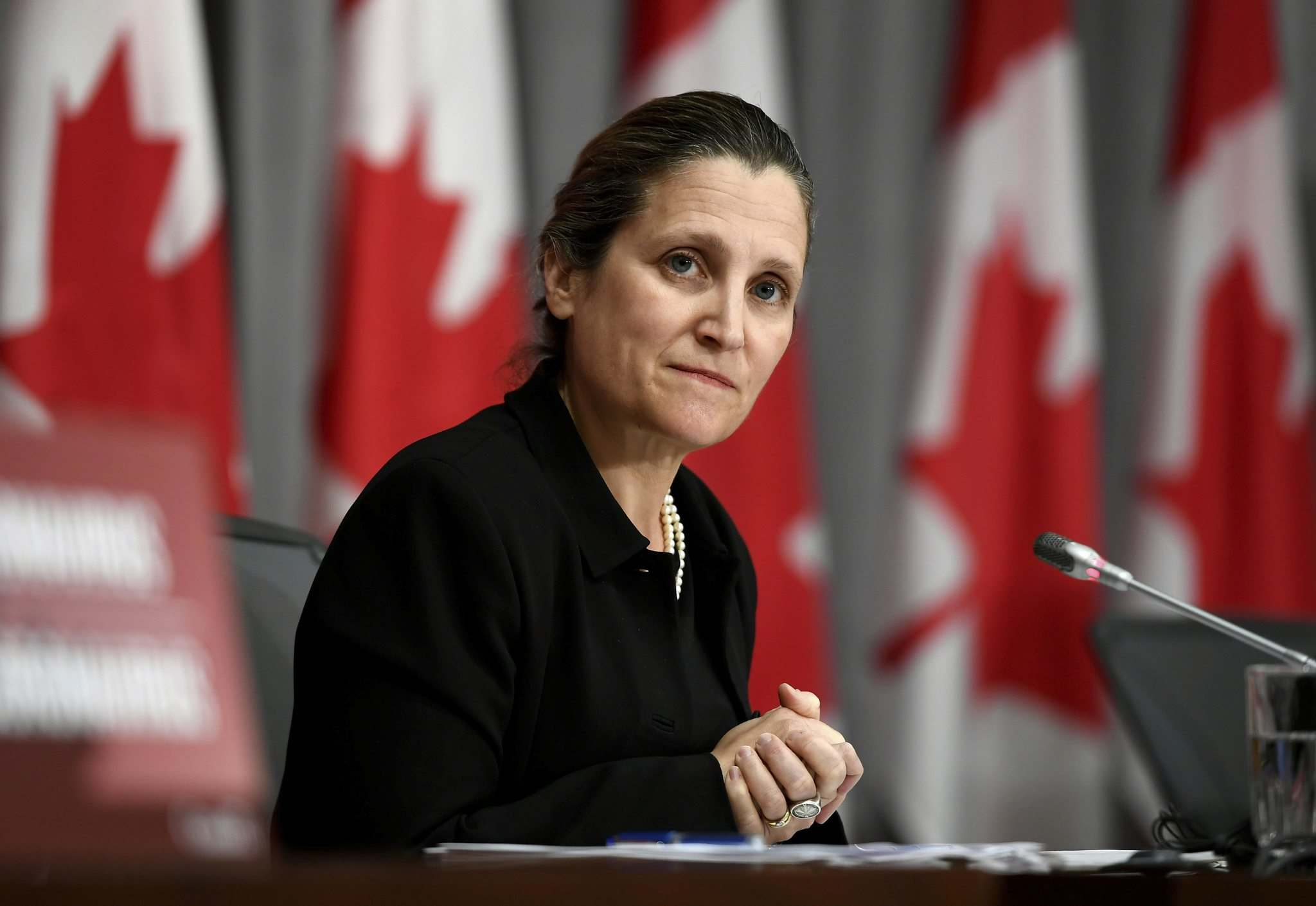 Deputy Prime Minister Chrystia Freeland had to tiptoe around the U.S. claim that there has been a surge in U.S. imports of Canadian aluminum.