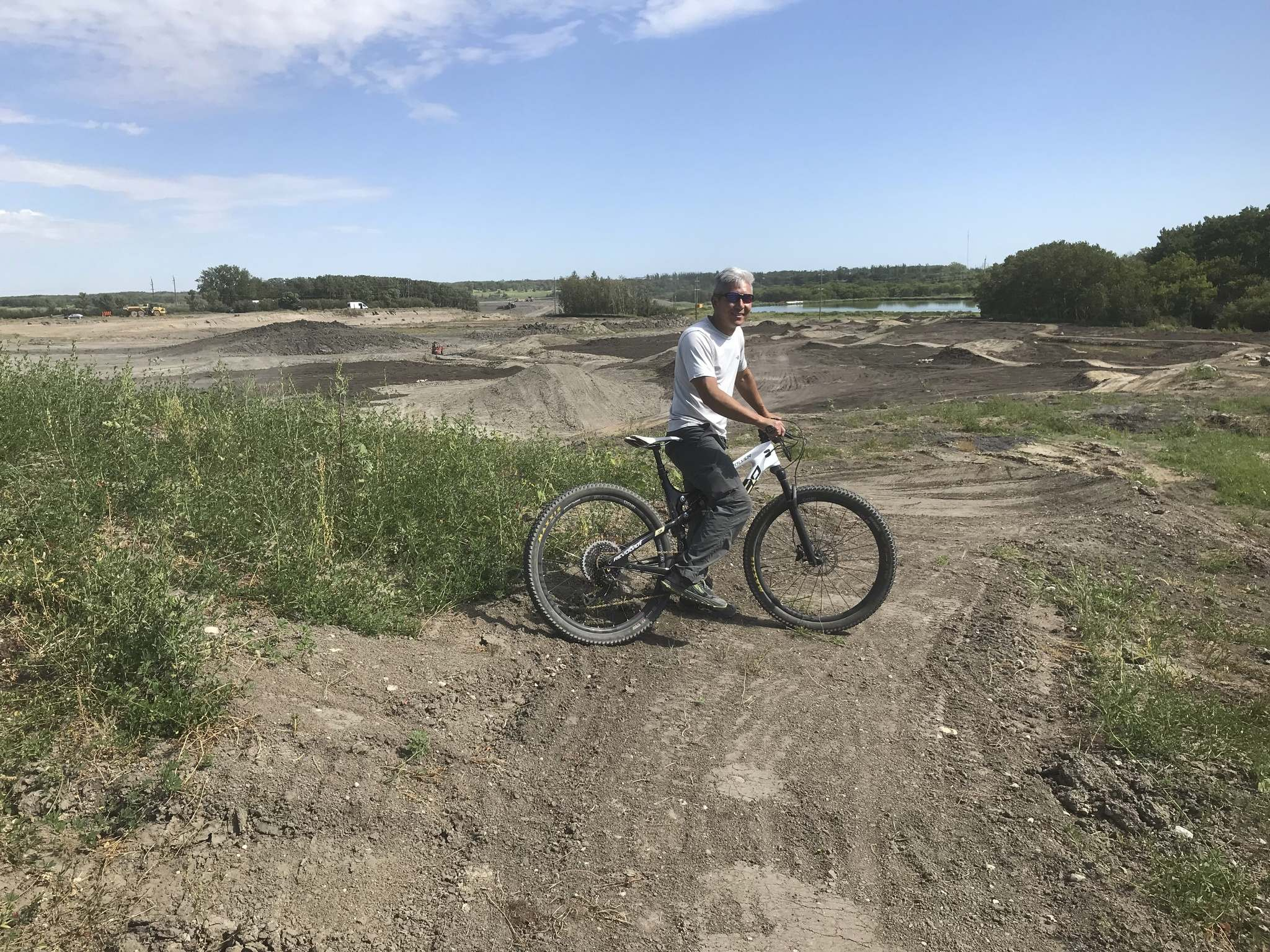 Alex Man at the Neepawa site where there will be six kilometres of trails.