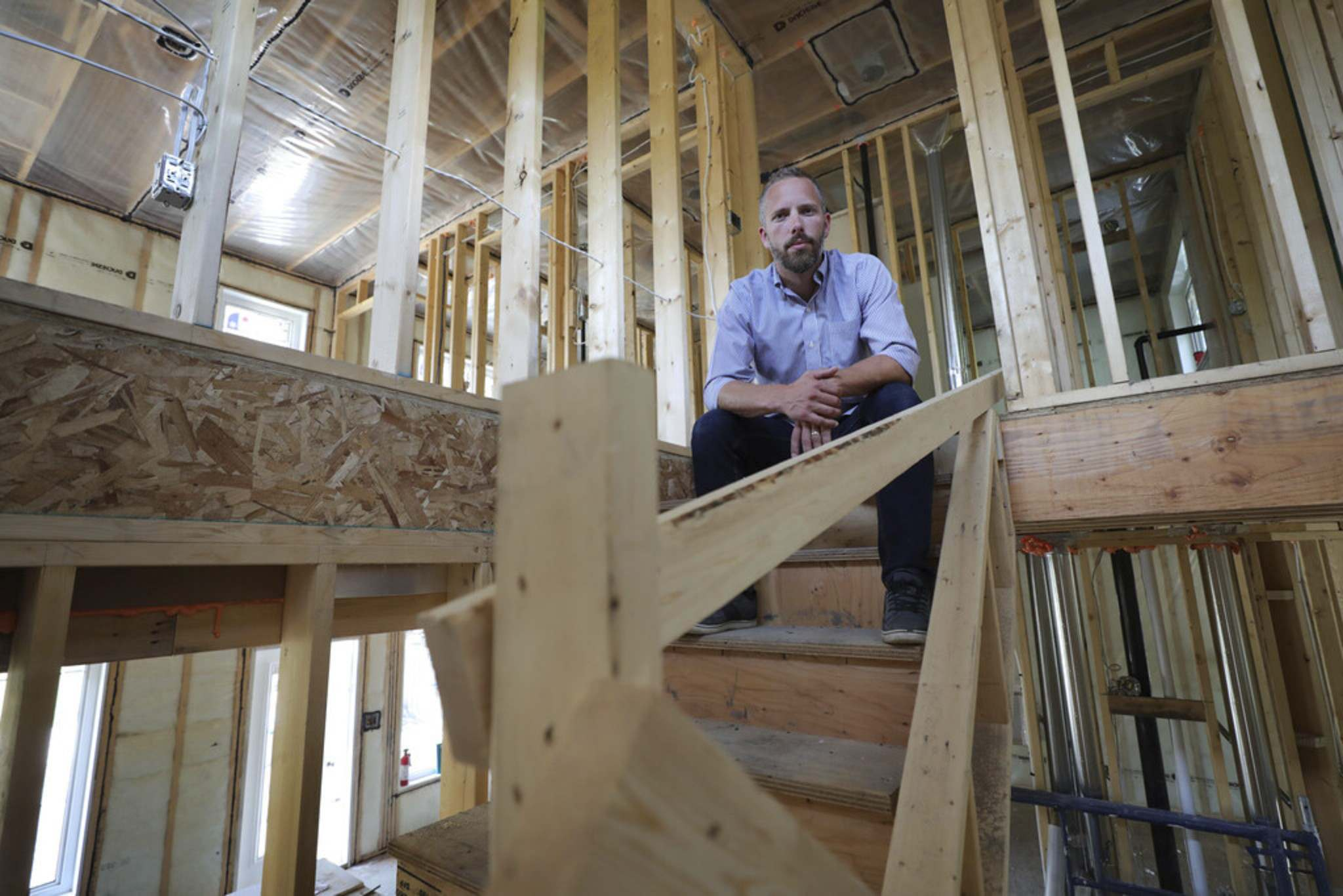 RUTH BONNEVILLE / WINNIPEG FREE PRESS</p><p>Matt Wickstrom, operations director with Hearth Homes, says price increases to lumber and wood panelling came 'without much warning.'</p>