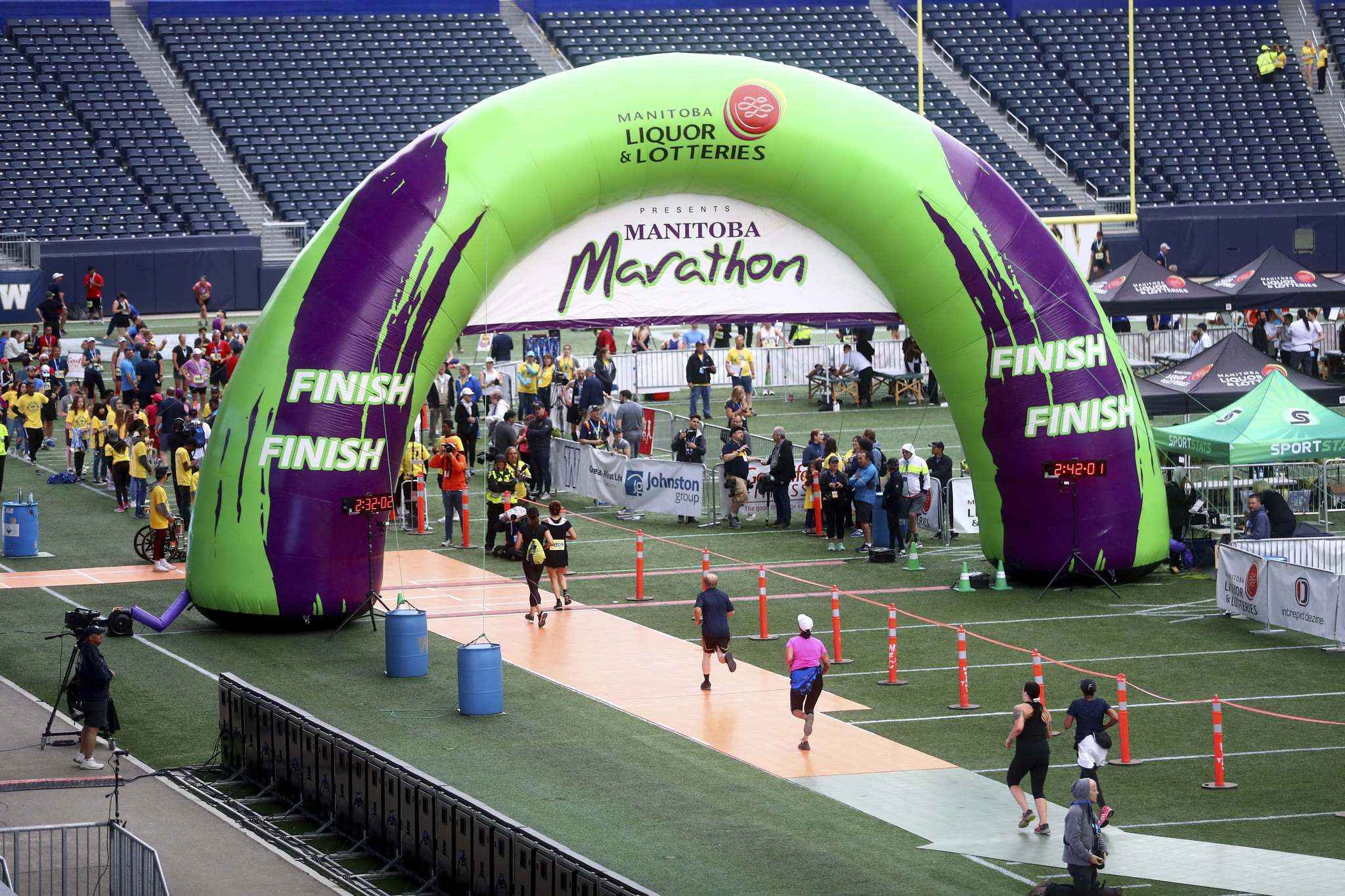 There will be no big finish at IG Field this year for the Manitoba Marathon. The event, already postponed by the COVID-19 pandemic, will now take place as a virtual event.
