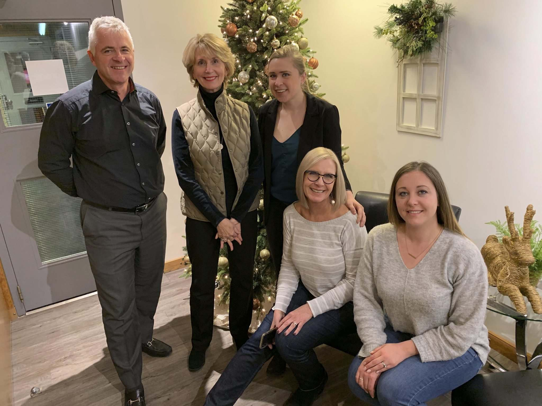Supplied</p><p>The Online Business Systems team (from left) Chuck Loewen, president and CEO, Ria Neuendorff, Madison Loewen, Laurie Reimer and Mira Lecker. </p></p>