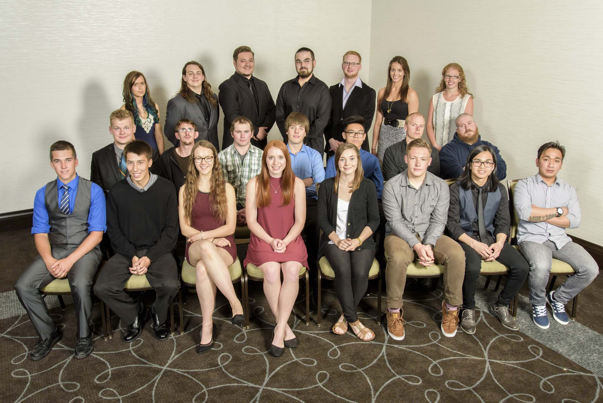 2016 Motor Vehicle Industry of Manitoba scholarship recipientsBack Row from left, Meghan Connor, Sebastien Fiola, Maxx Wazney, Dominic Fiest, Chris Maher, Alisa Everett, Bendrine Klassen. Middle row from left, Jessie Posthumus, Eric Seib, Calvin Kaartinen, Brayden Robb, Raphy Ople, Scott Hugill, Megatron Boultanyshen. Front row from left, Dustyn Zacharias, Darryl Merritt, Ashley Weber, Dessiray Nault, Carissa Ness, Andrew Friesen, Rico Maceda, Arnel Marasigan