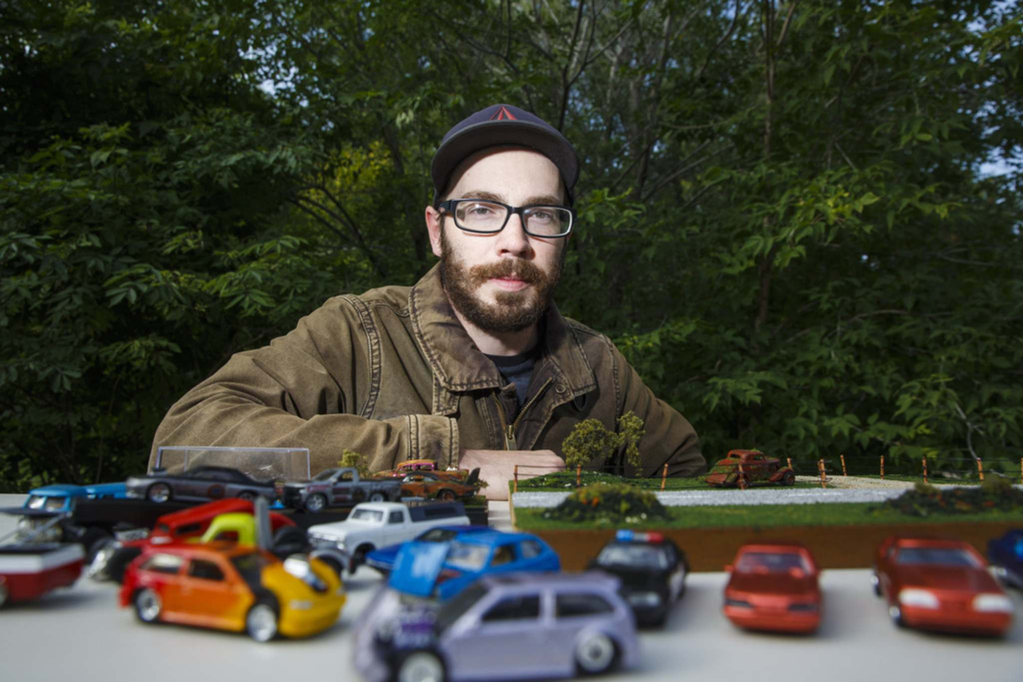 Daniel Walker collects and customizes Hot Wheels, swapping out tires, inserting engines, and repainting them.</p>